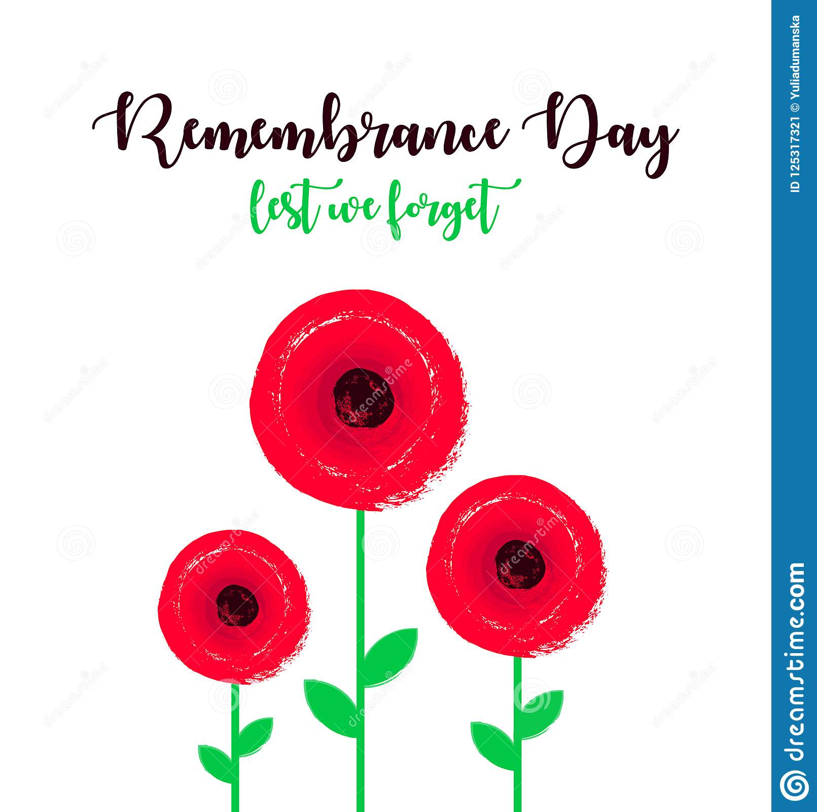 Remembrance day poster with poppy flowers lest we forget lettering download remembrance day poster with poppy flowers lest we forget lettering stock vector mightylinksfo