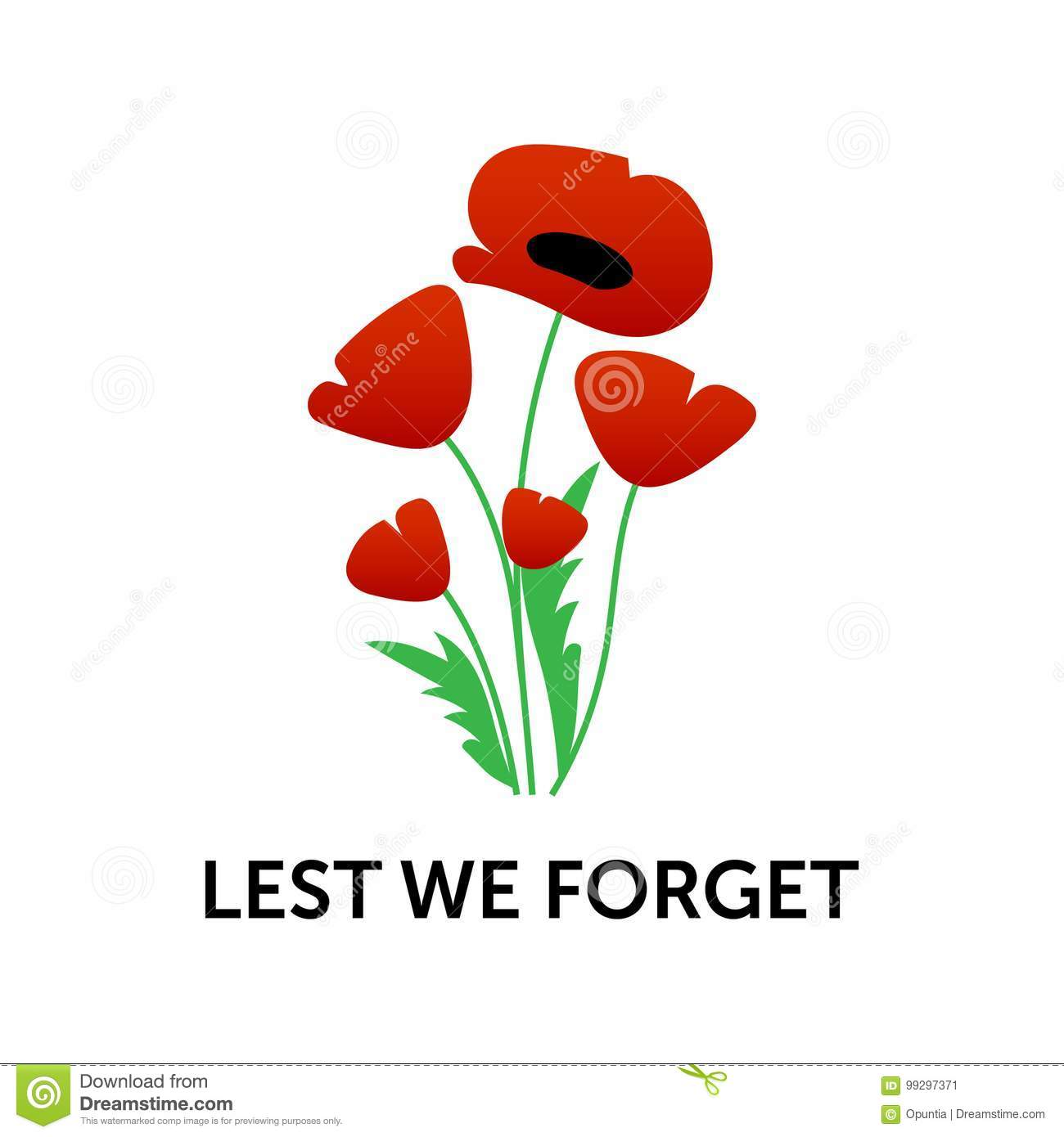 Remembrance Day Poster Stock Vector Illustration Of Background
