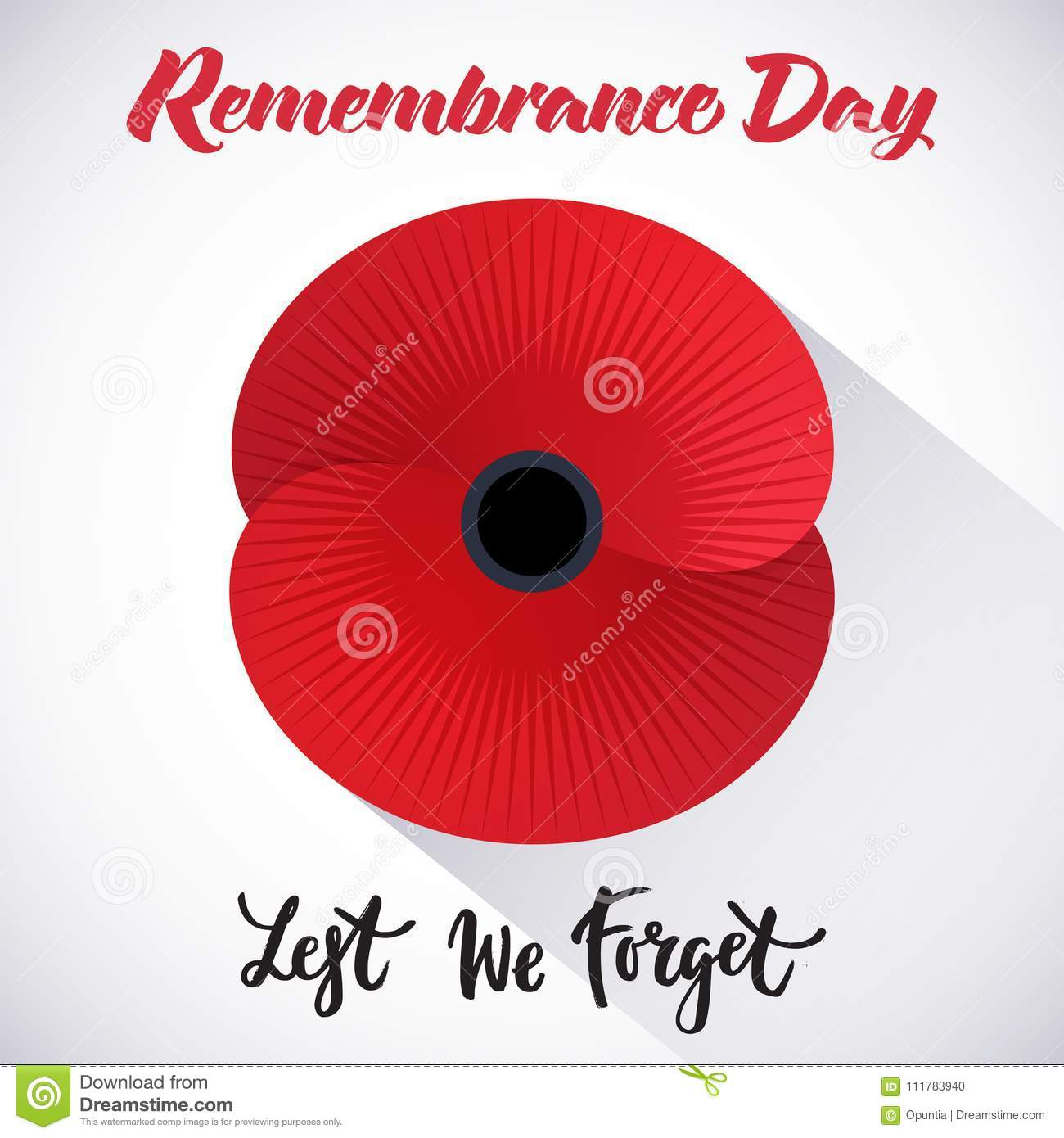 Remembrance Day Poster Stock Illustration. Illustration Of
