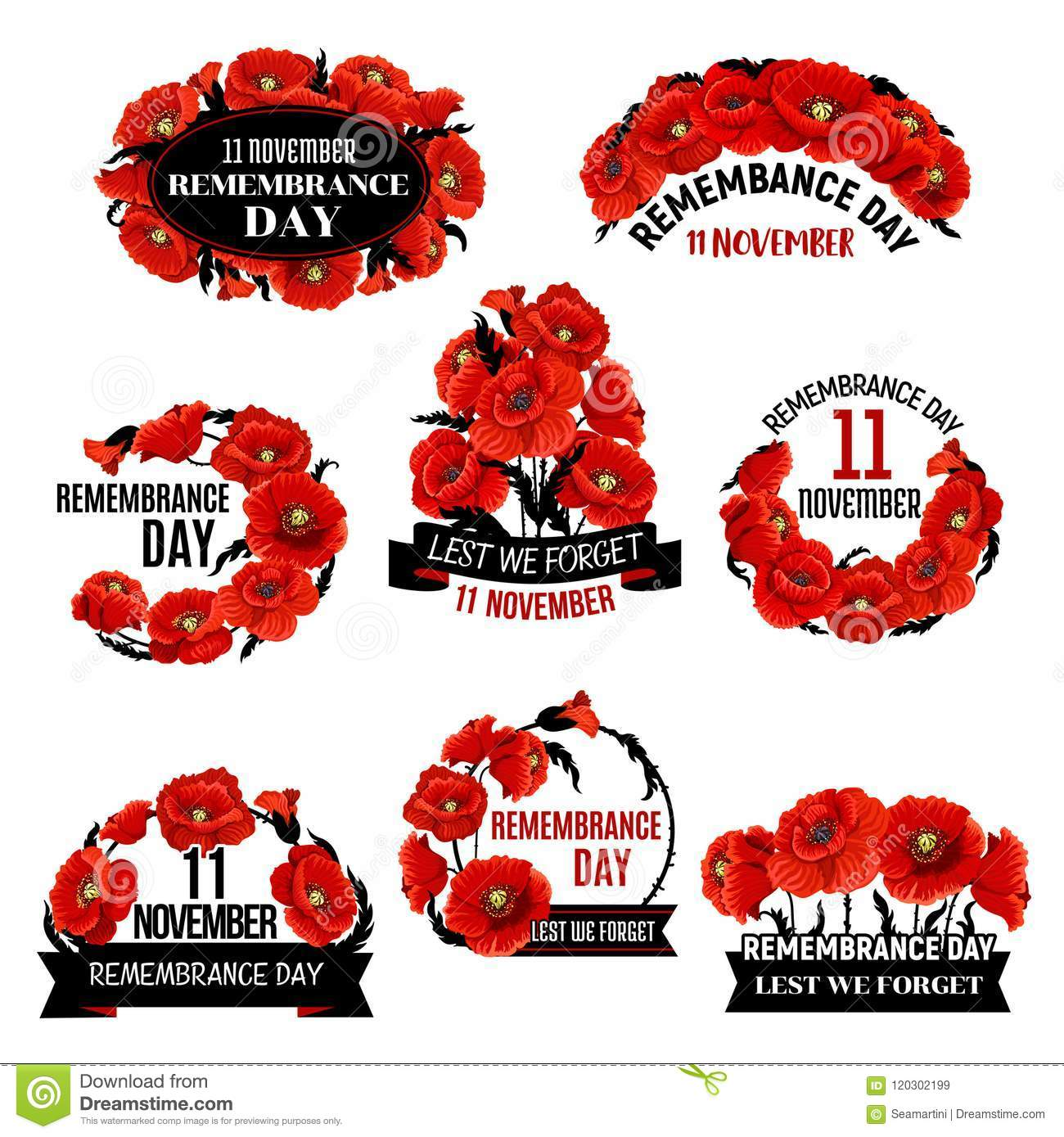 Remembrance day red poppy flower wreath icon stock vector remembrance day red poppy flower wreath icon mightylinksfo