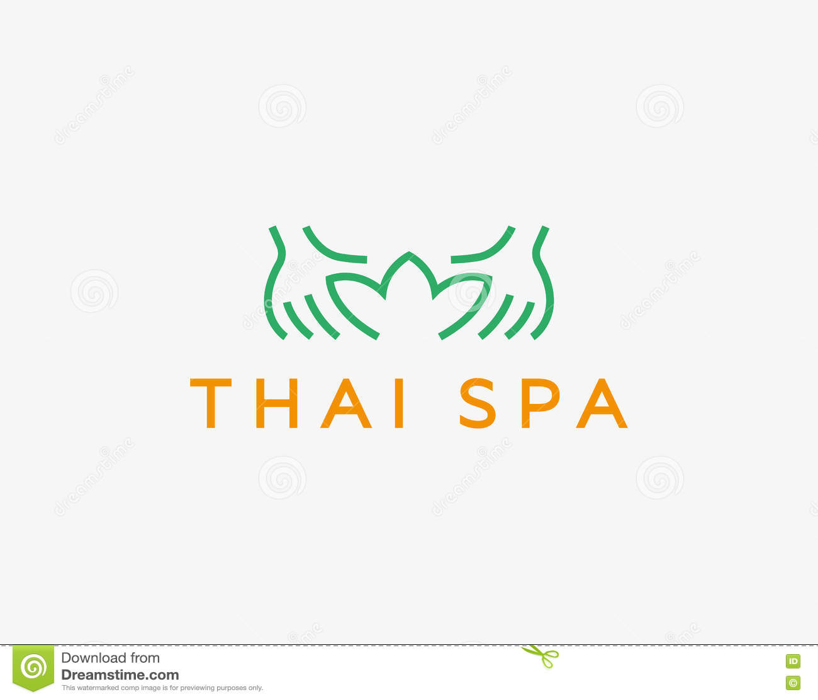 Remet le logotype de vecteur de station thermale de lotus Conception créative de logo de salon de massage de beauté