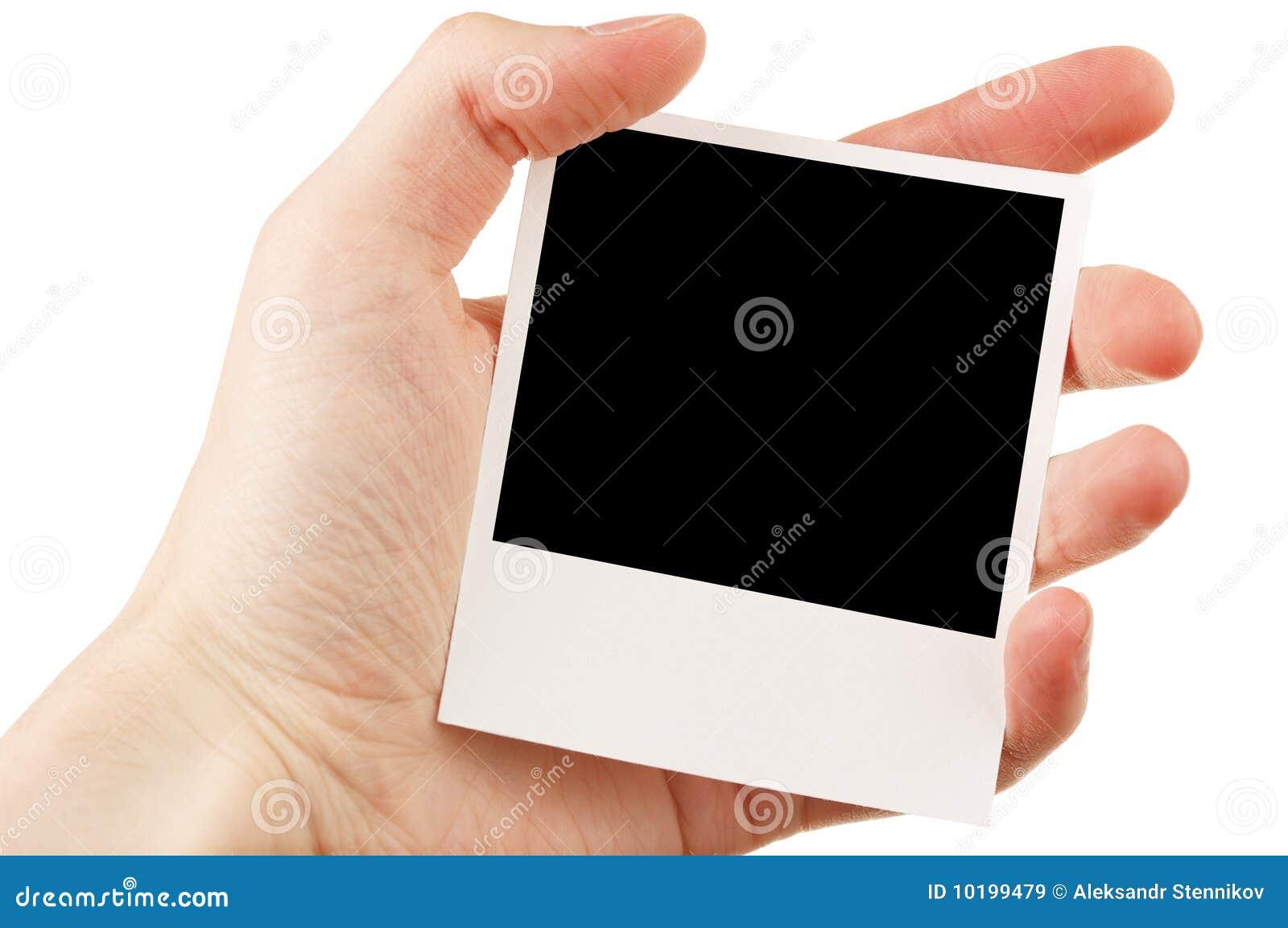 Remettez à fixation la photo blanc