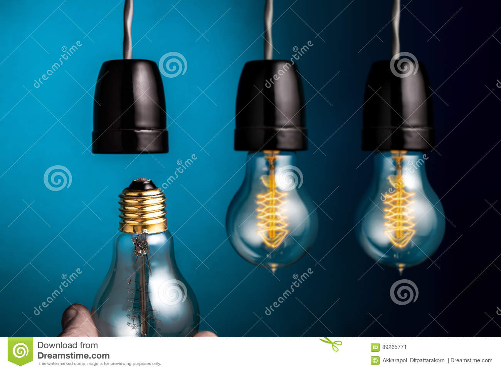 Remettez changer un filament antique de style d edison les ampoules sur dar