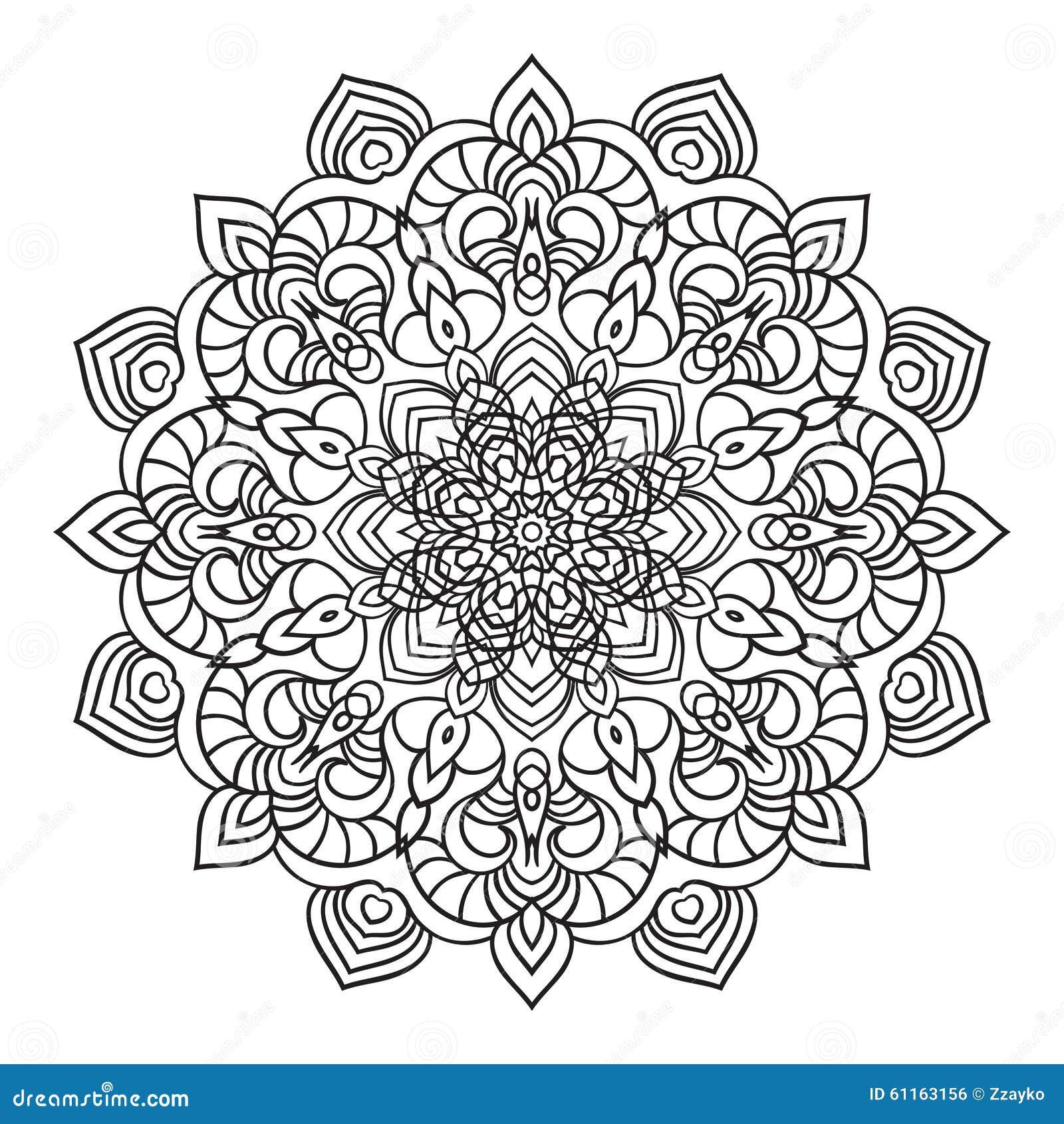 Remettez l 39 l ment fleuri de dessin de mandala dans le - Style de dessin ...