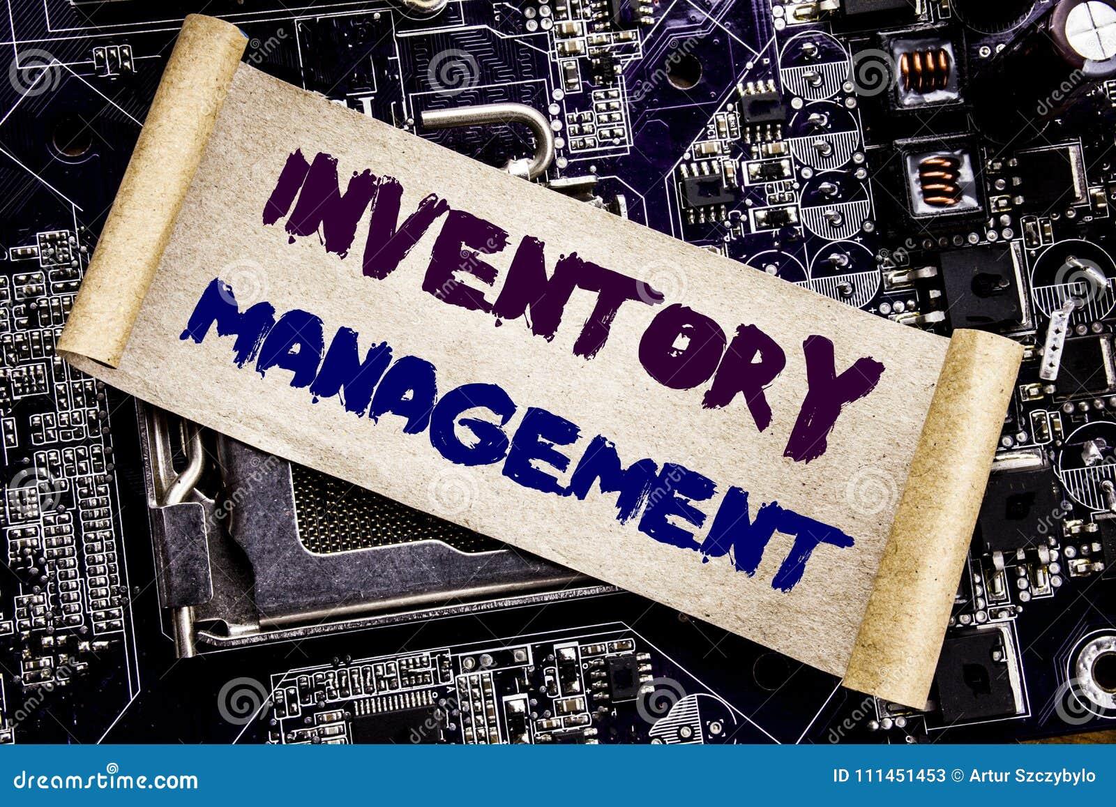 Remettez l inspiration de légende des textes d écriture montrant la gestion des stocks Concept d affaires pour l approvisionnemen