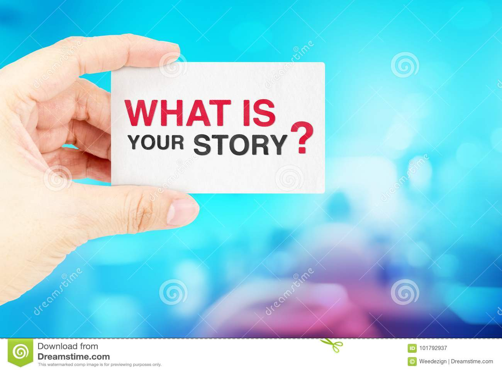 Remettez Tenir La Carte De Visite Professionnelle Avec Ce Qui Est Votre Histoire