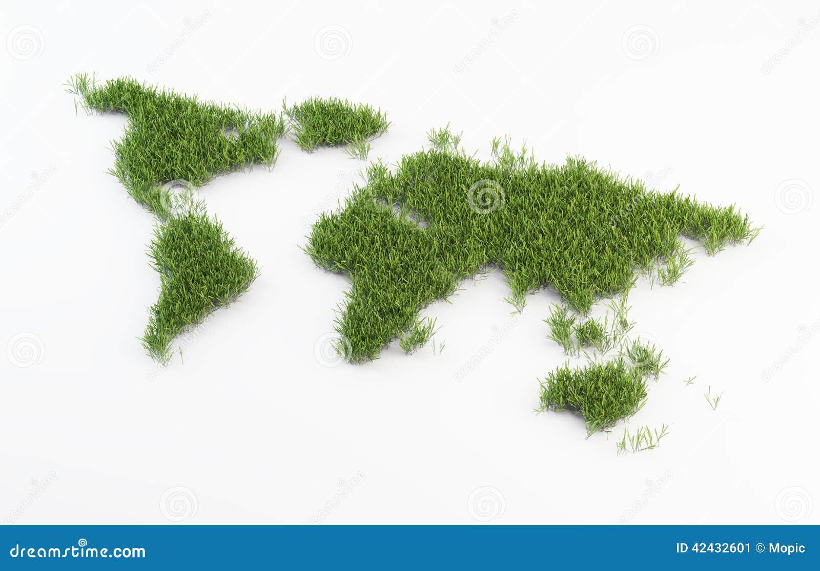 Remiendo de la hierba del mapa del mundo