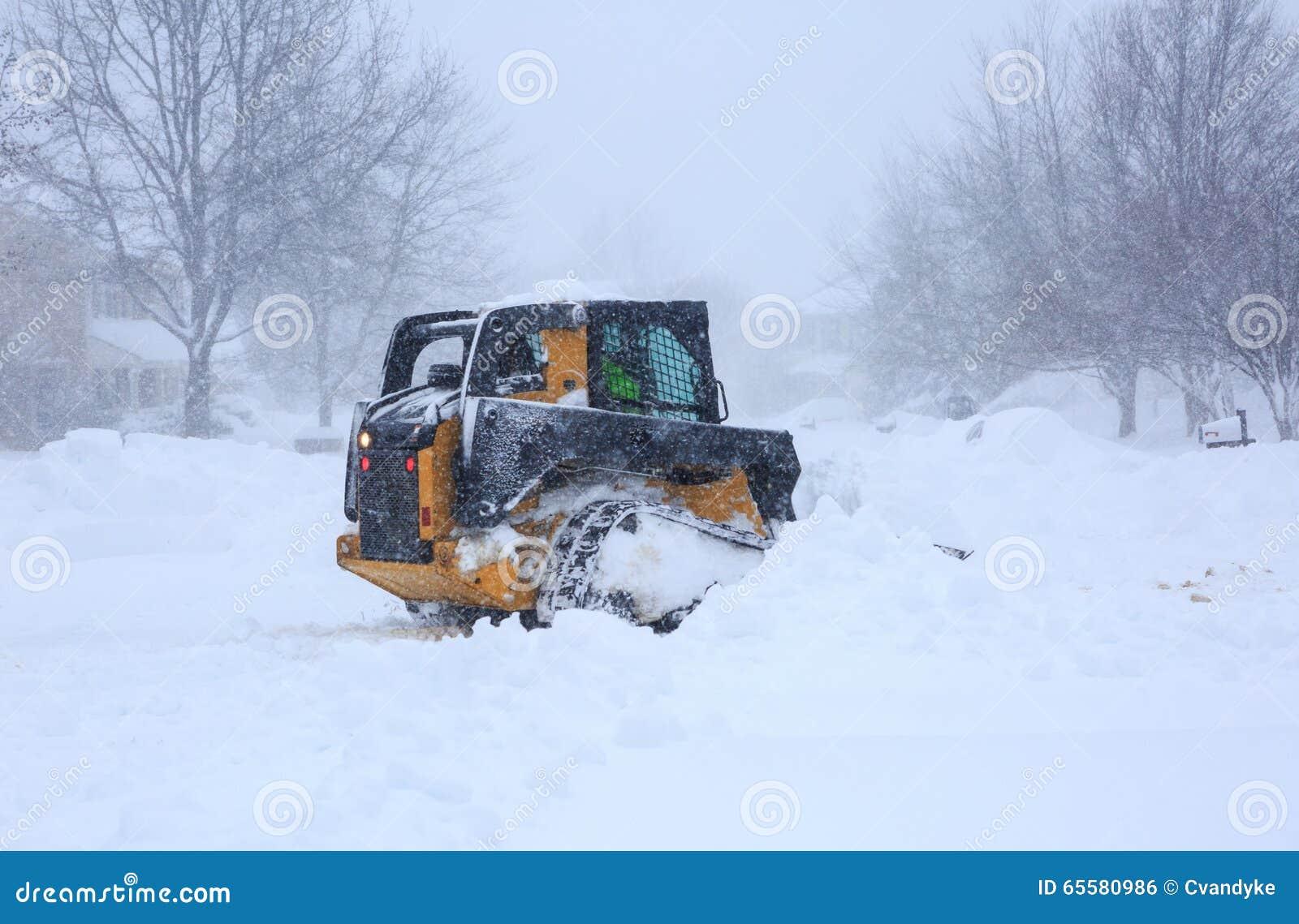 Remoção de neve do blizzard 2016
