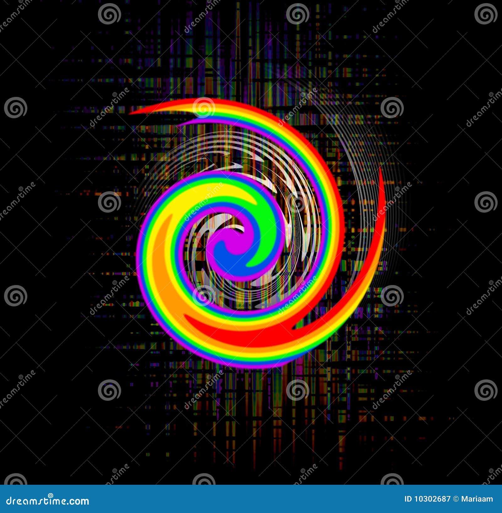 Remolino abstracto del arco iris