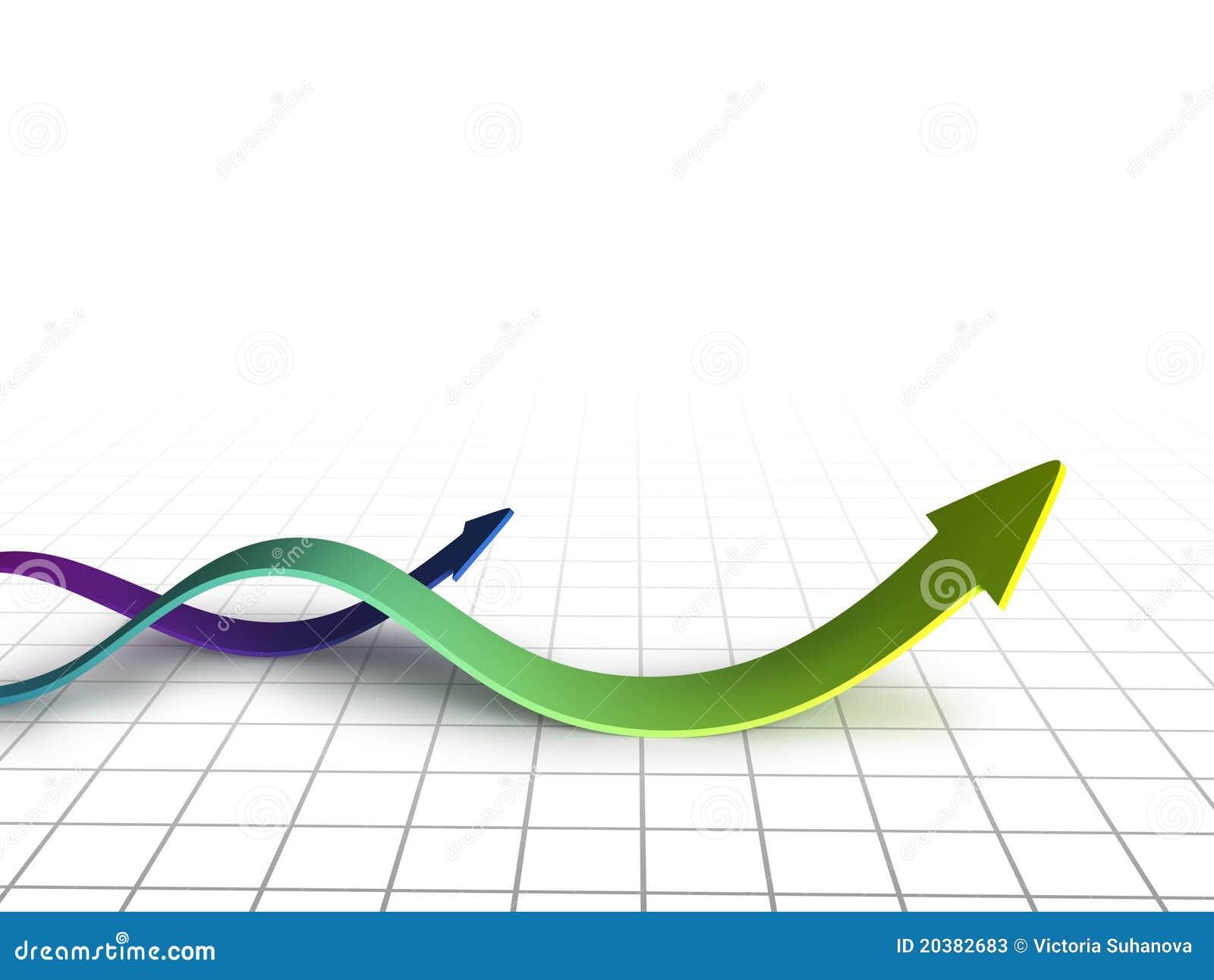 Remolino de las flechas del gráfico