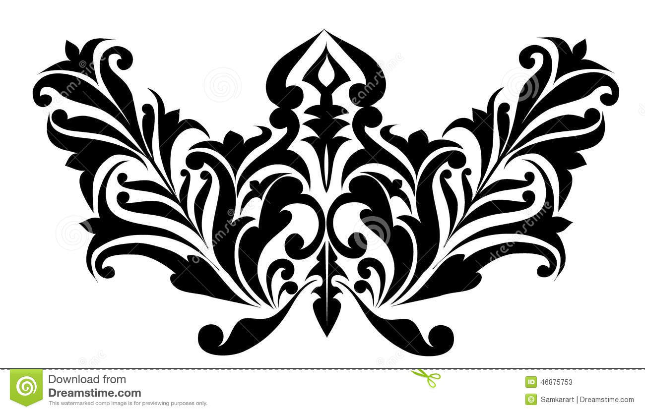 Remolino modelos dise o de las flores vector ilustraci n del vector imagen 46875753 - Any design using black and white ...