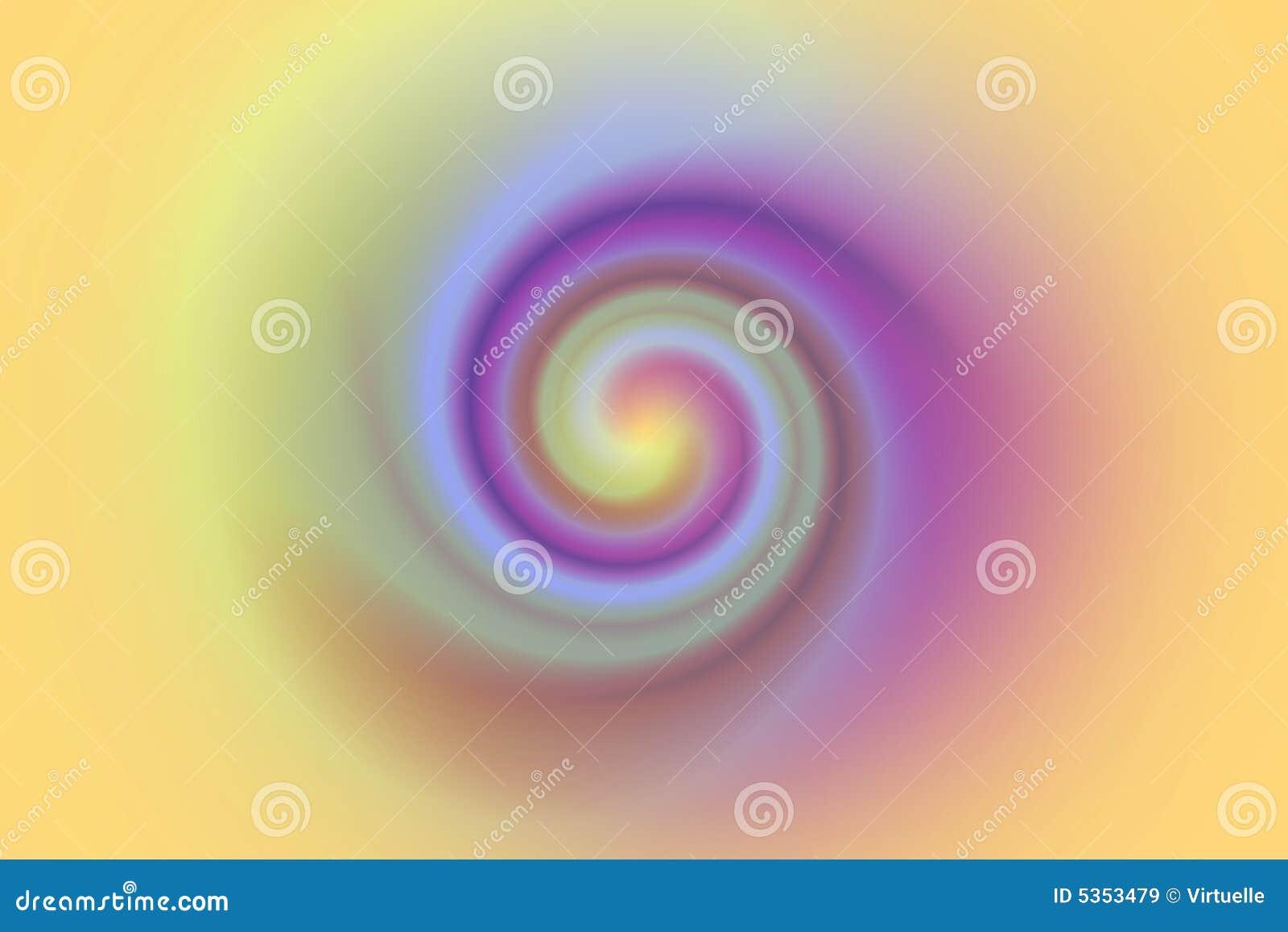 Remolino o enrollamiento en colores en colores pastel