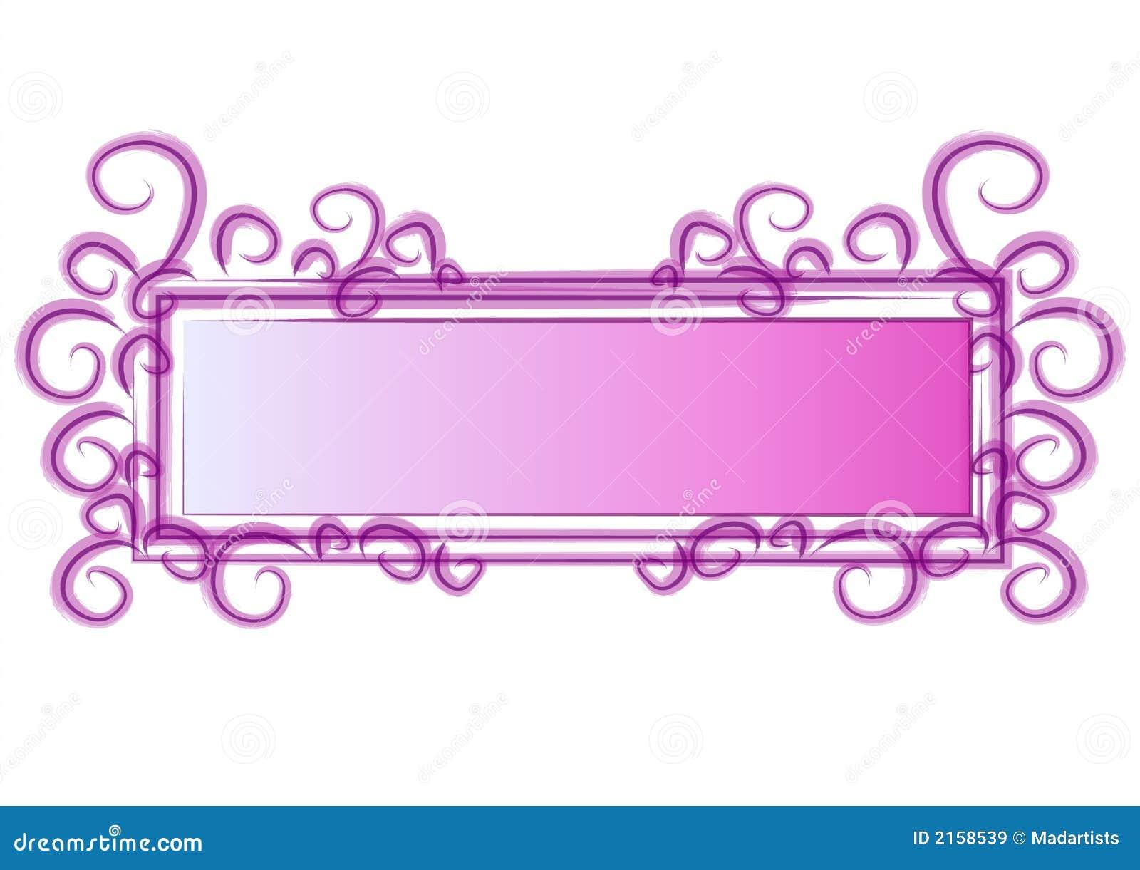 Remolinos del color de rosa de la insignia del Web page