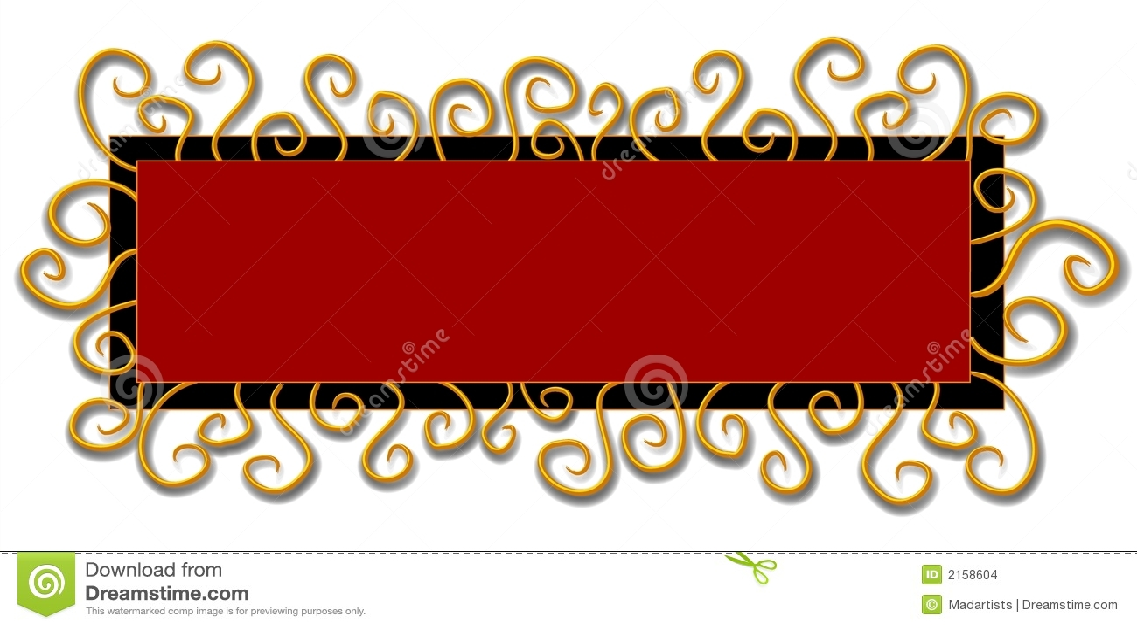Remolinos del rojo del negro de la insignia del Web page