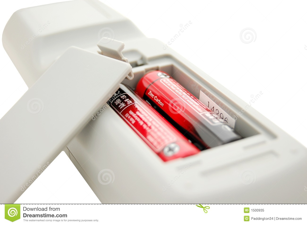 remote control battery compartment royalty free stock