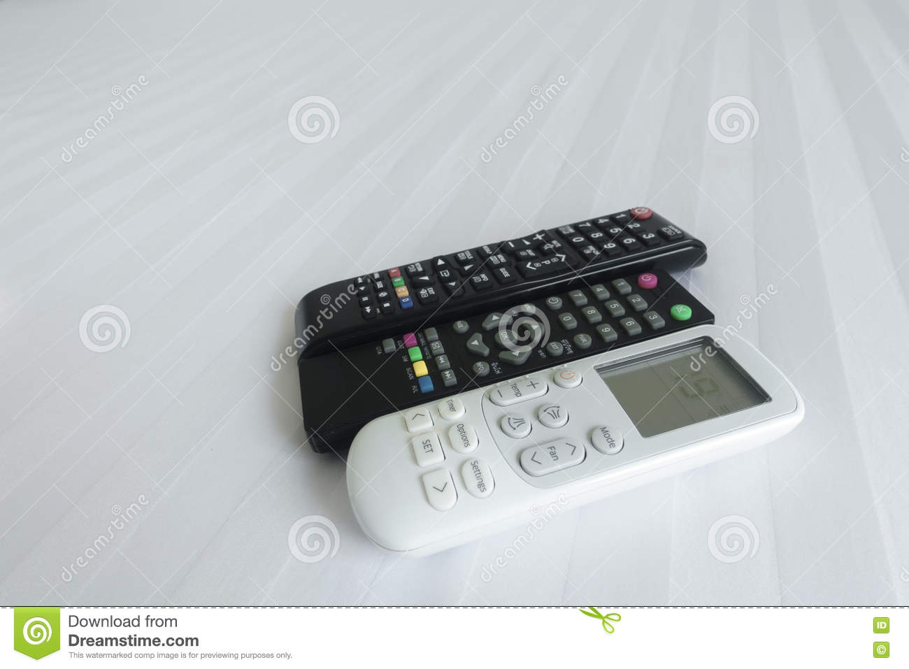 remote control on Bed linen