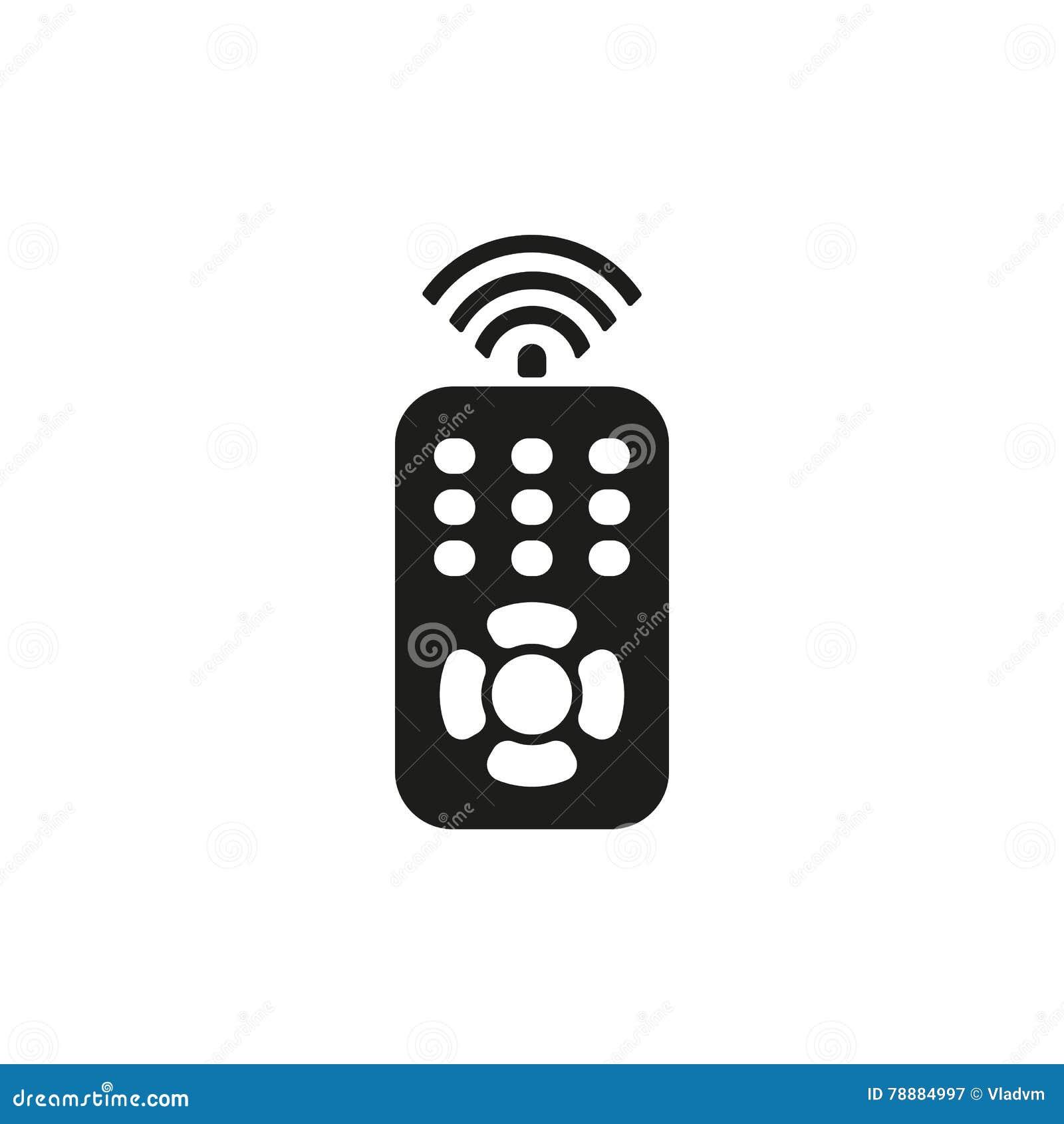 The Remote Control Icon Remote Control Symbol Stock Vector
