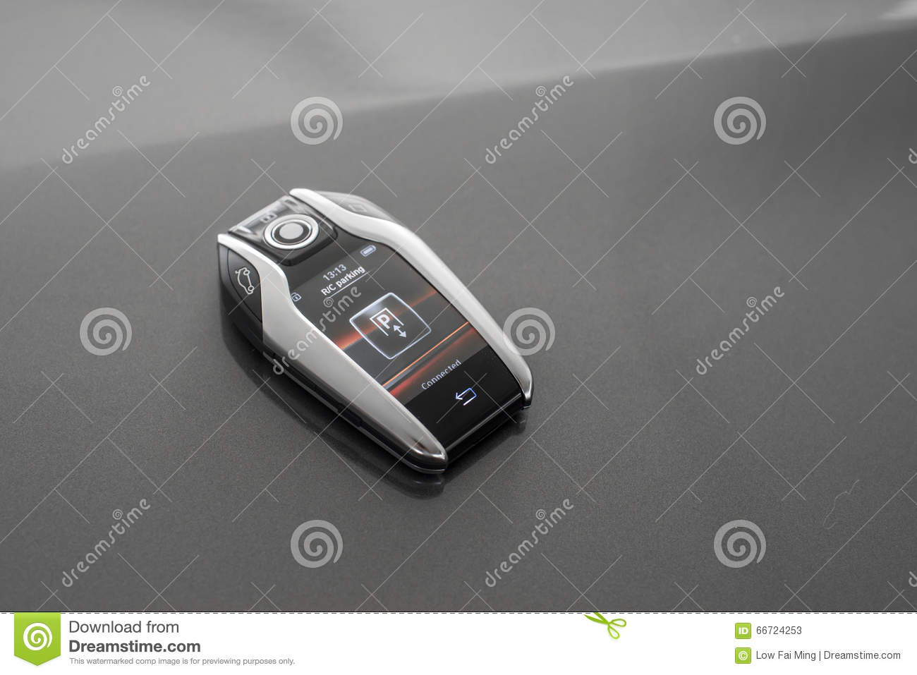 Remote control with lcd panel for car