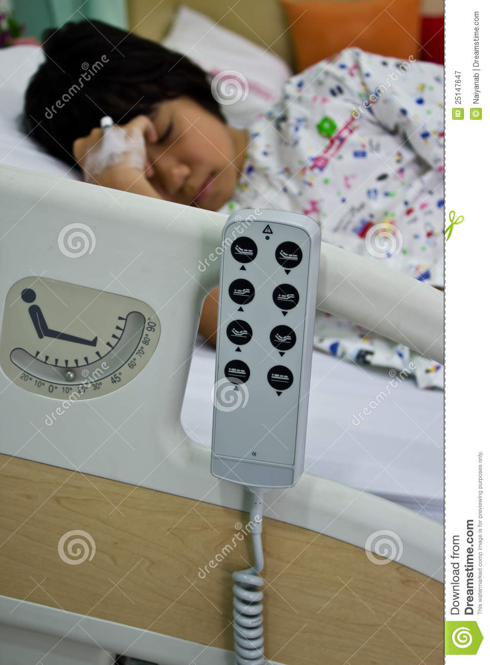 Remote Control Of Patient Bed Royalty Free Stock ...