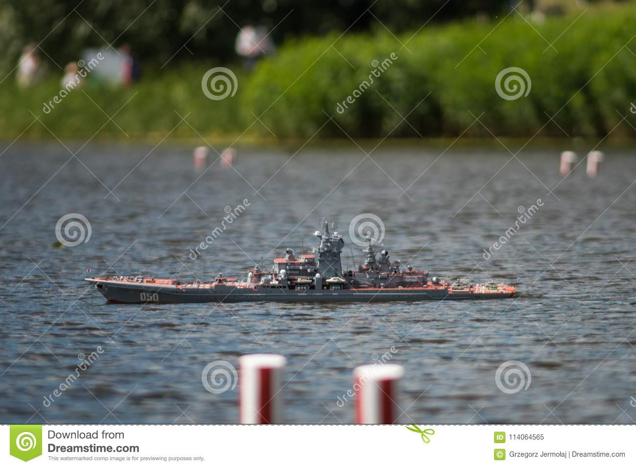 Remote-control Scale Warship At Competitions  Editorial Image