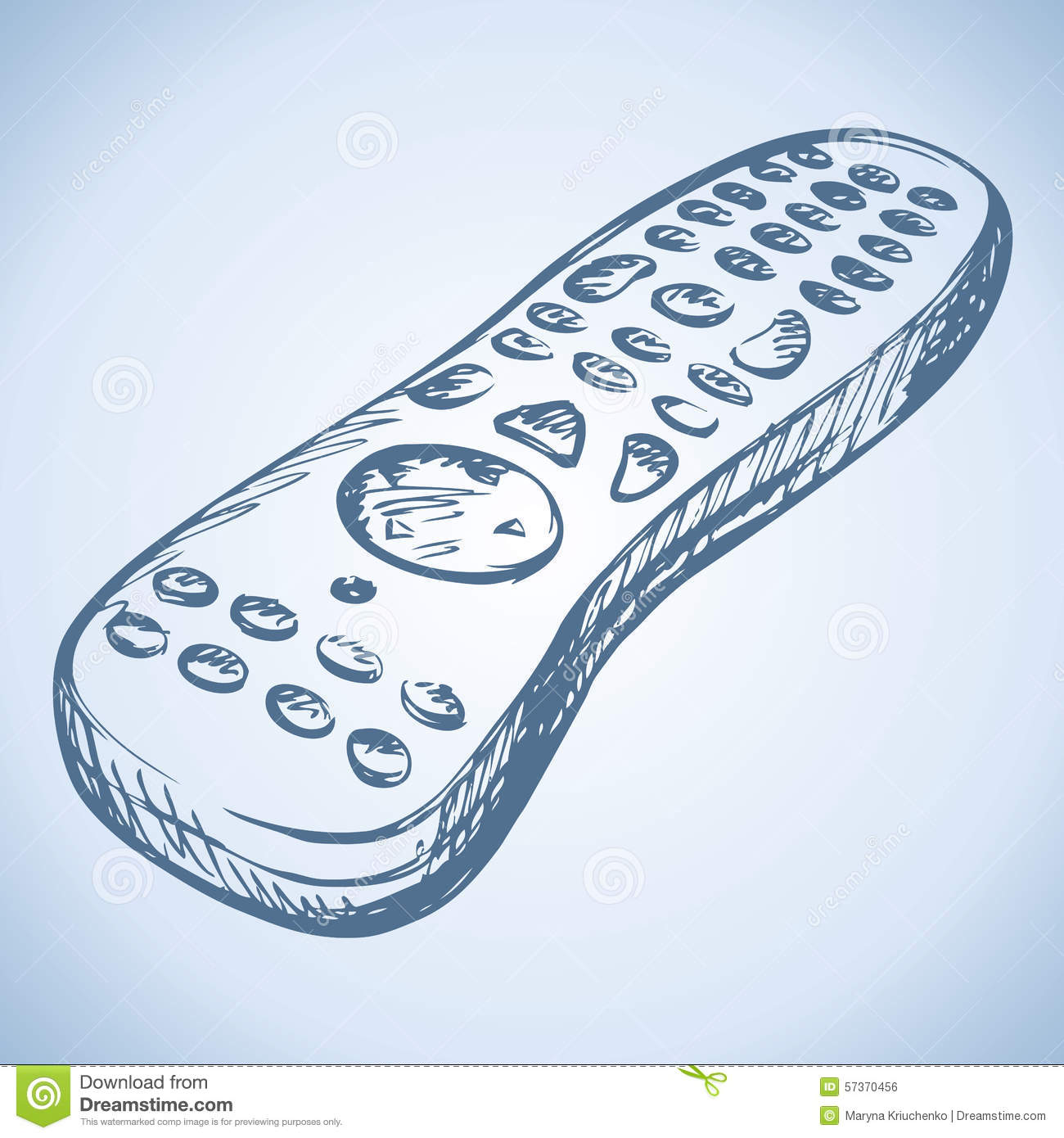 remote control drawing. royalty-free vector. download remote control. control drawing