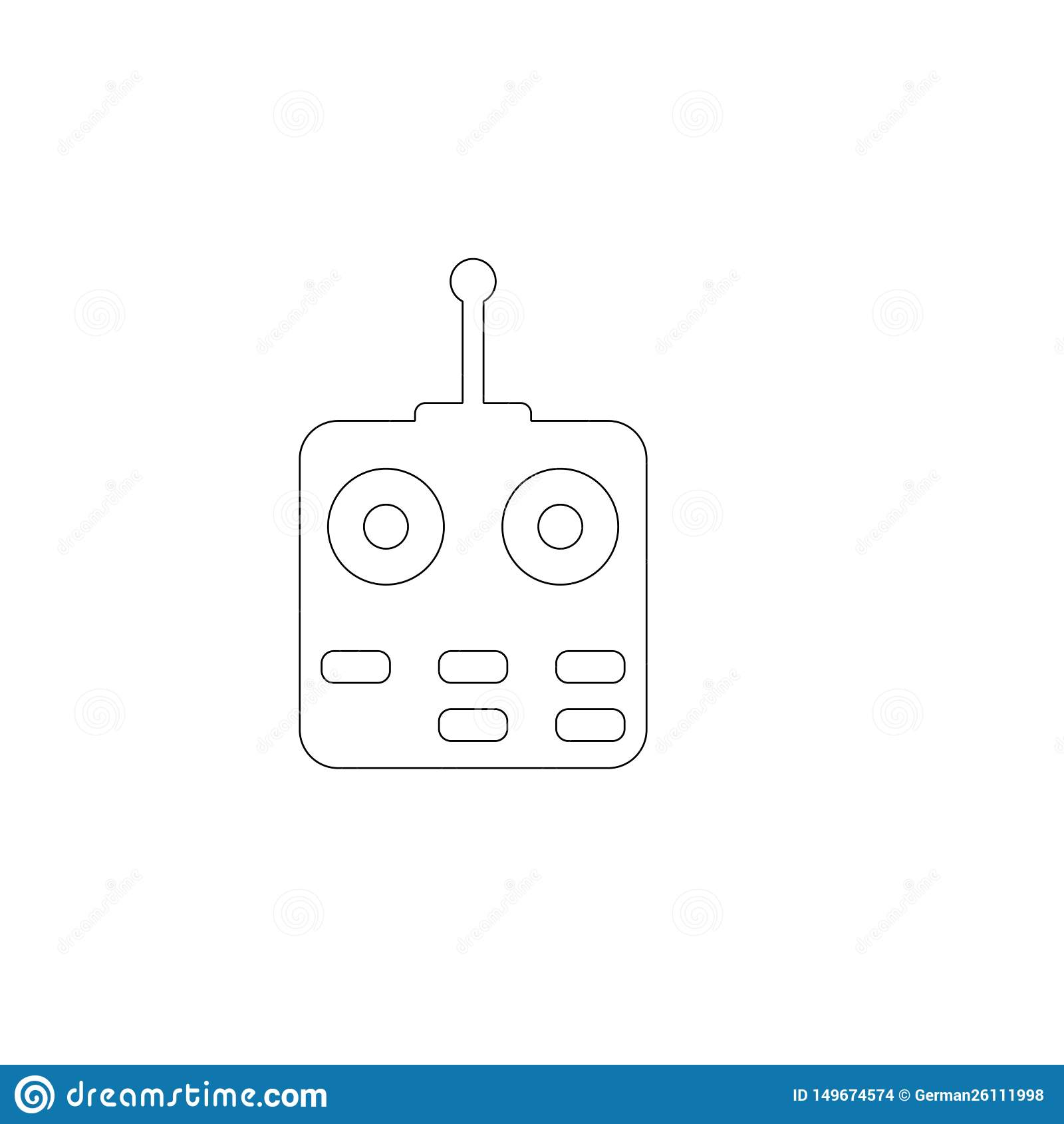 Remote controlled. flat vector icon