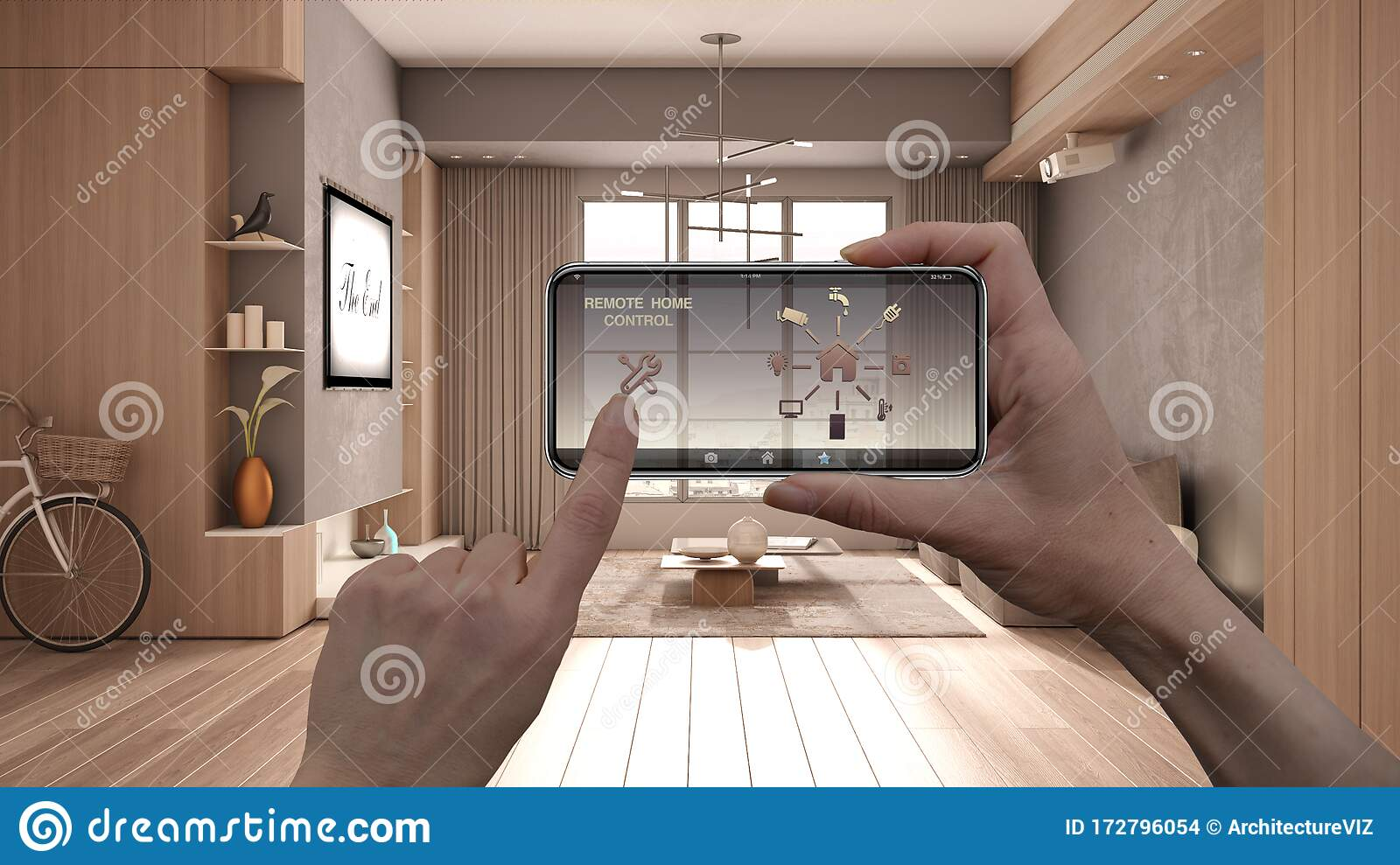 Remote Home Control System On A Digital Smart Phone Tablet ...