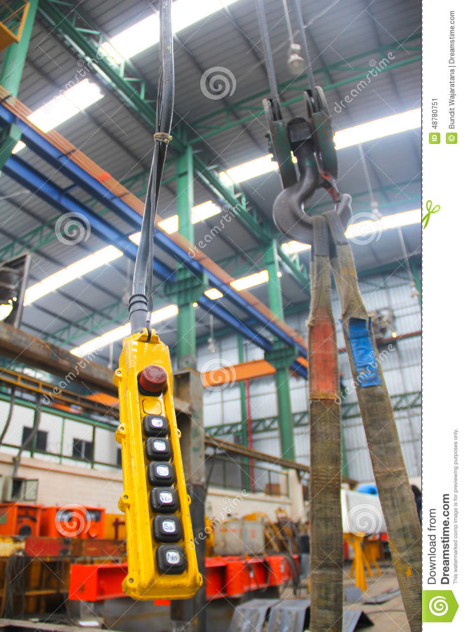 Overhead Crane Remote Safety : Remote and old hoist stock image of corrosive