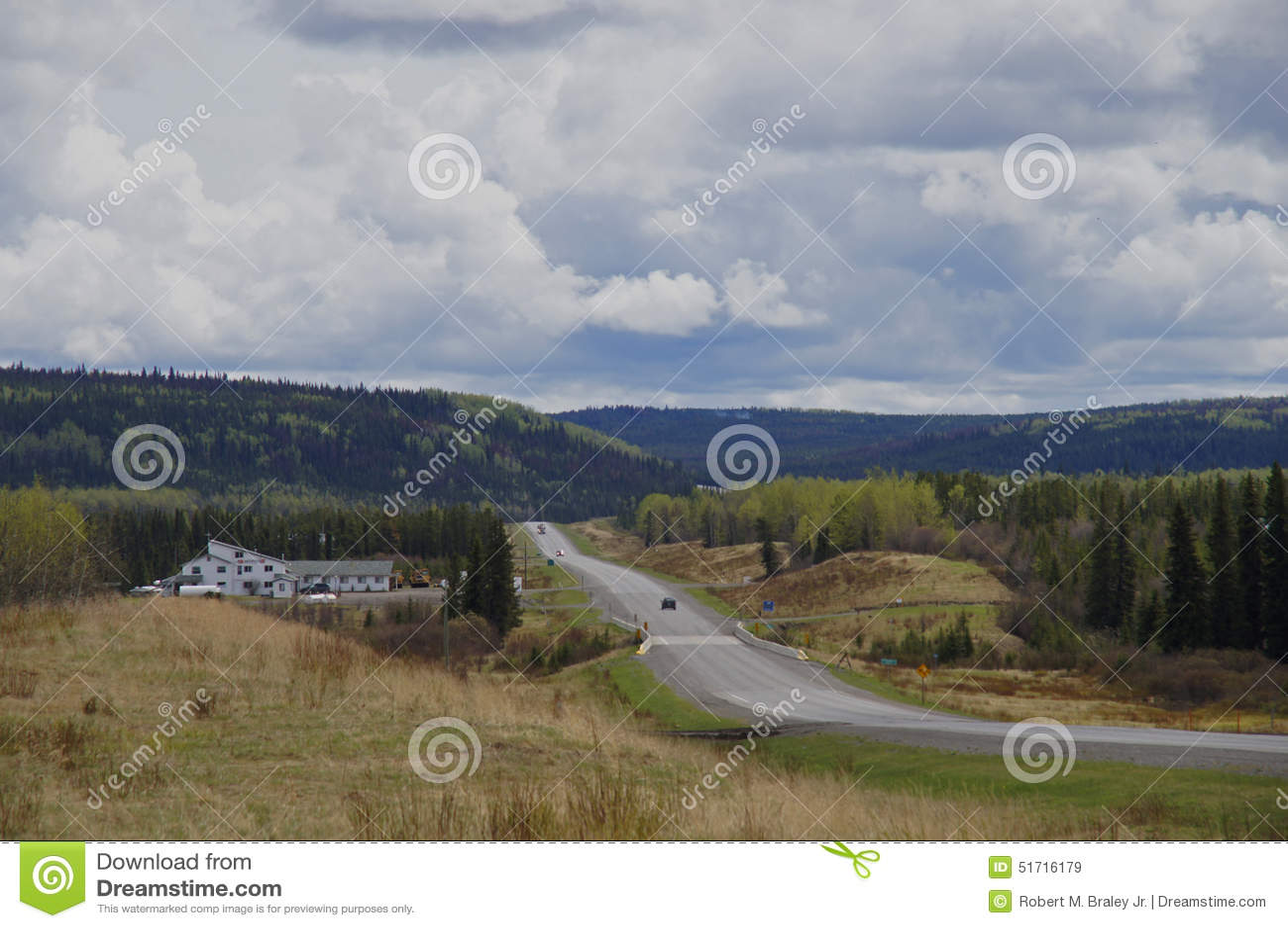 Remote Road Alaska Highway Canada