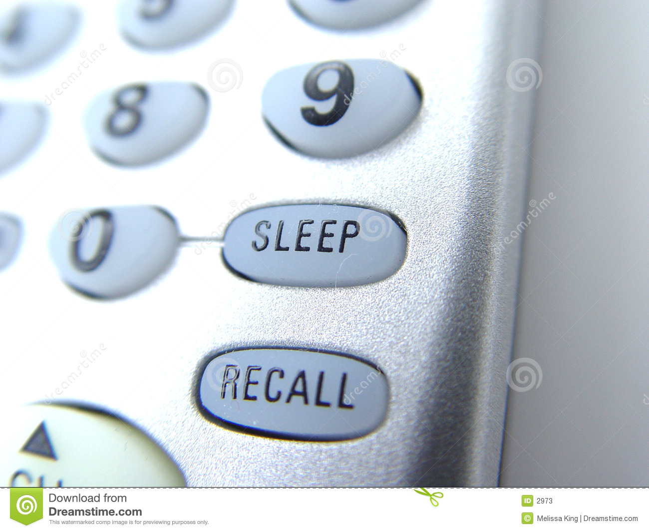 Remote with sleep button