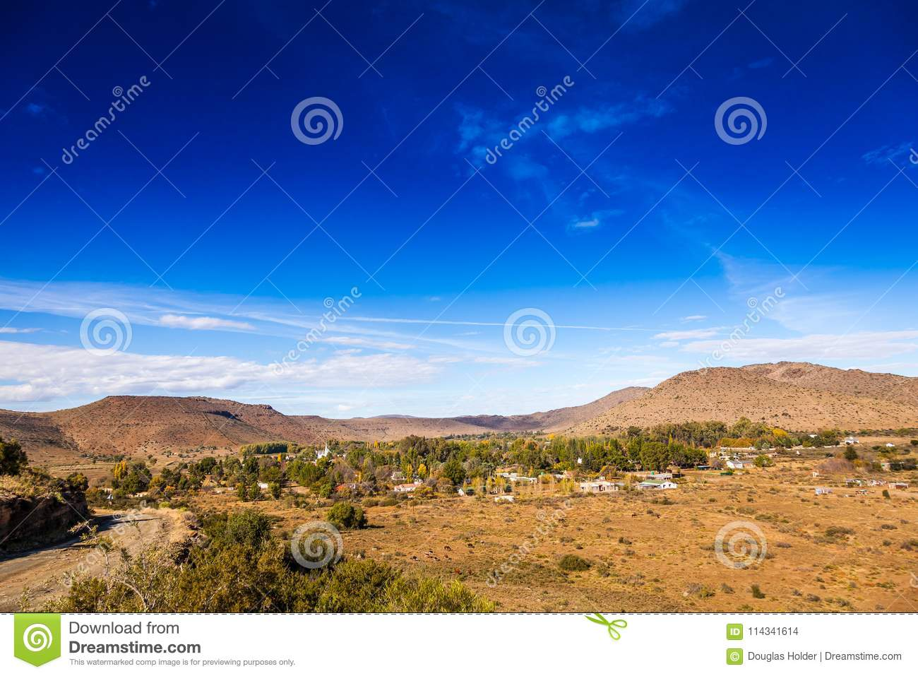 The Remote Town Of Nieu Bethesda In The Karoo Stock Photo