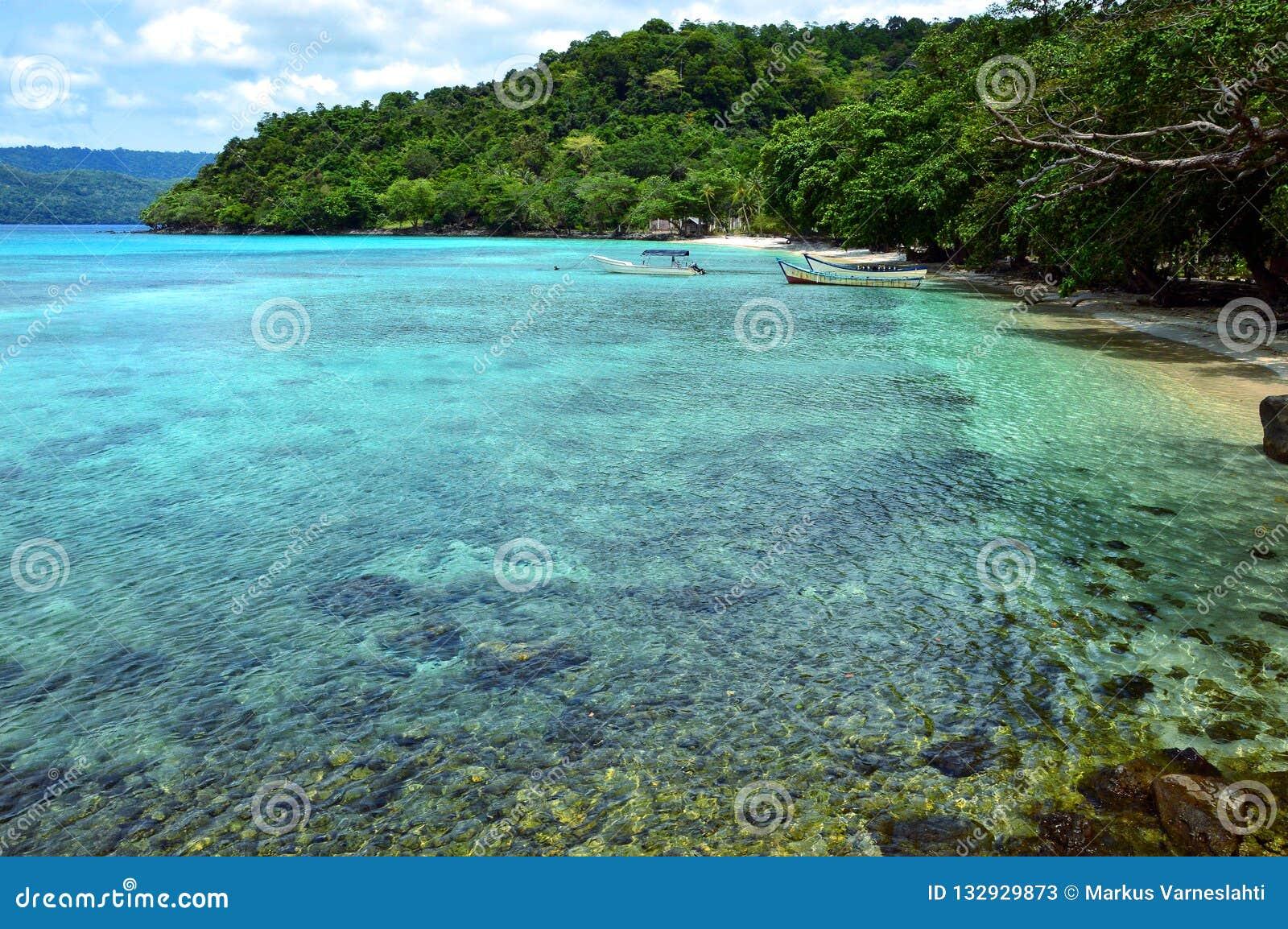Paradise beach in Pulau Weh, Indonesia.