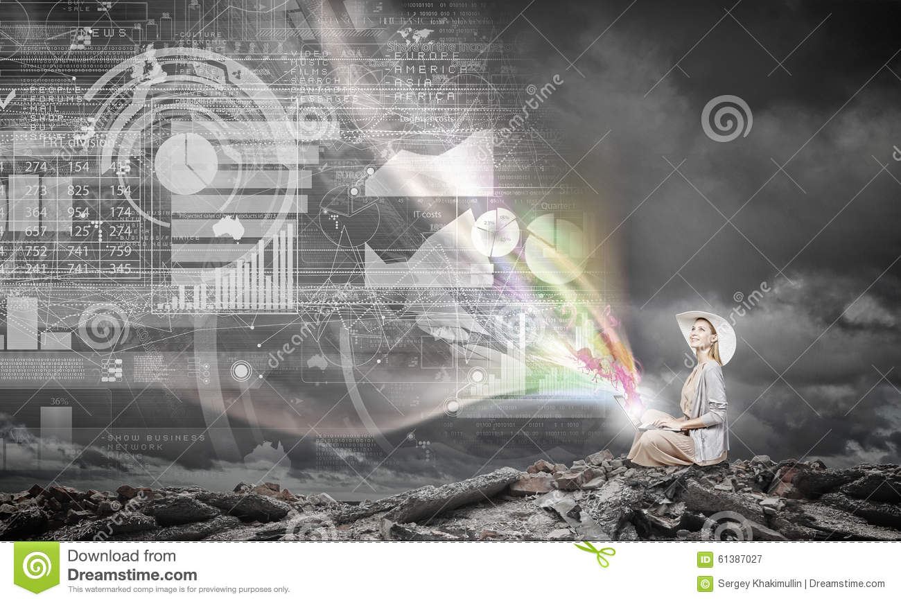 Remote work. Concept image stock image. Image of ...