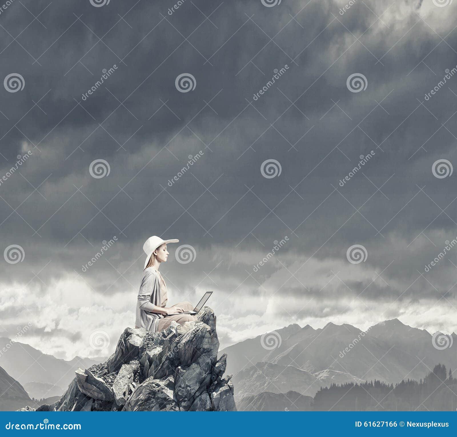 Remote Work. Concept Image Stock Photo - Image: 61627166
