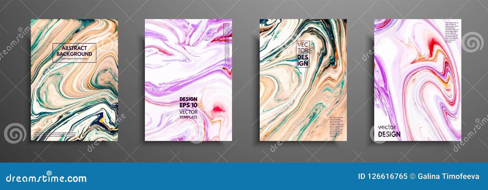Remous de marbre ou des ondulations de l agate Texture de marbre liquide Art liquide Applicable pour des couvertures de conceptio