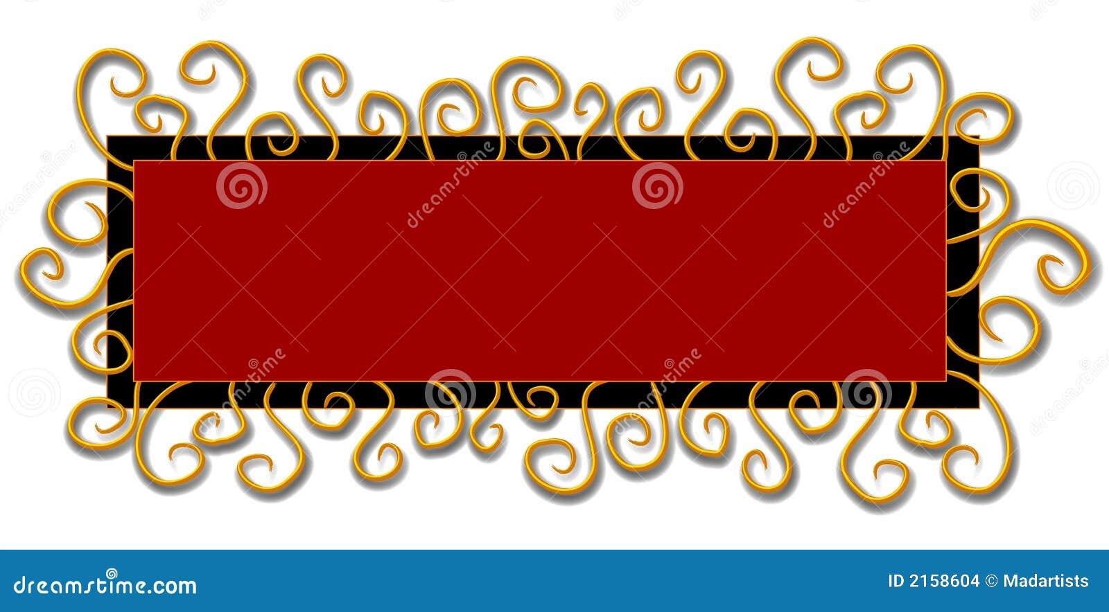 Remous de rouge de noir de logo de page Web