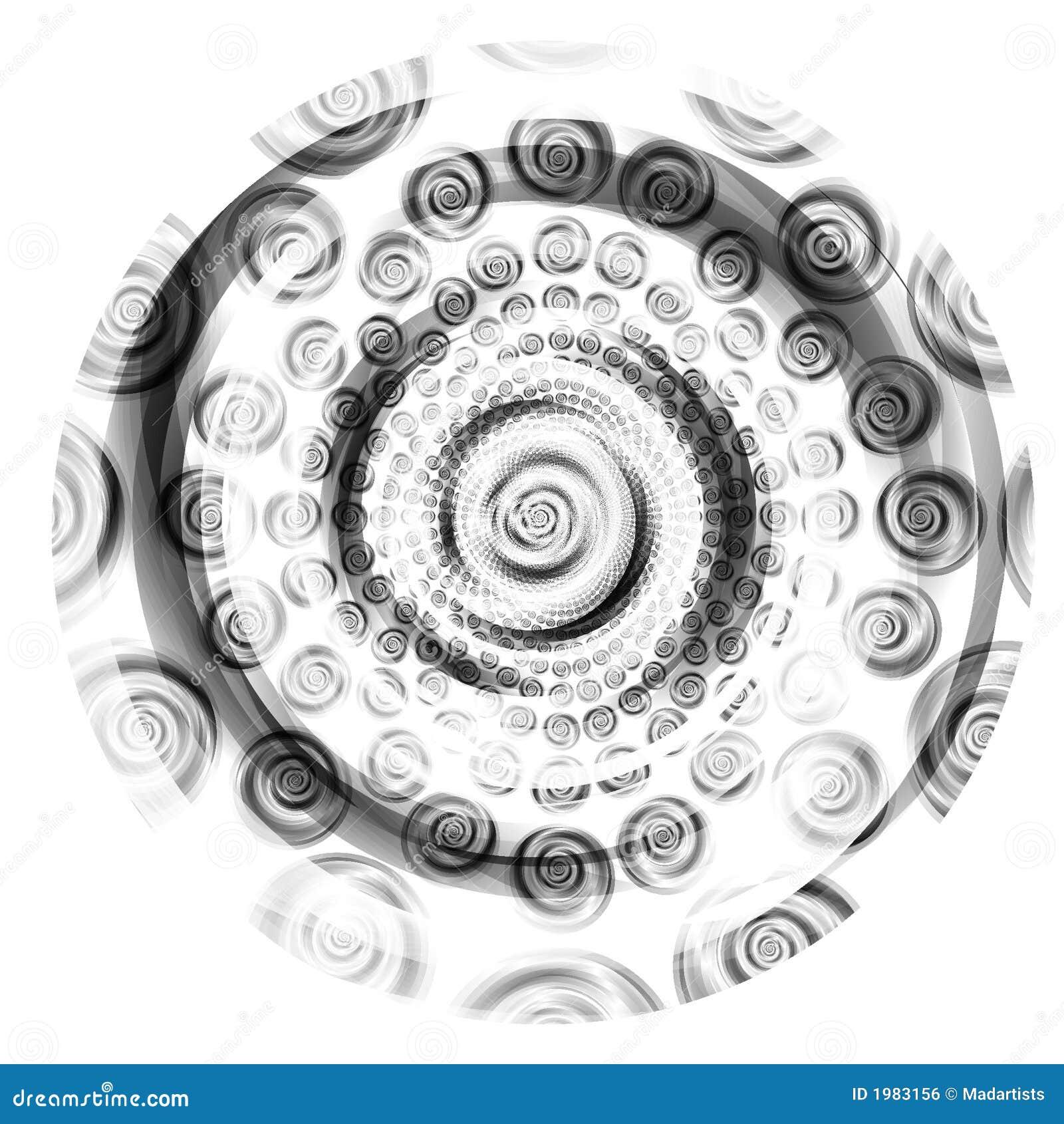 Remous noirs et blancs de cercle