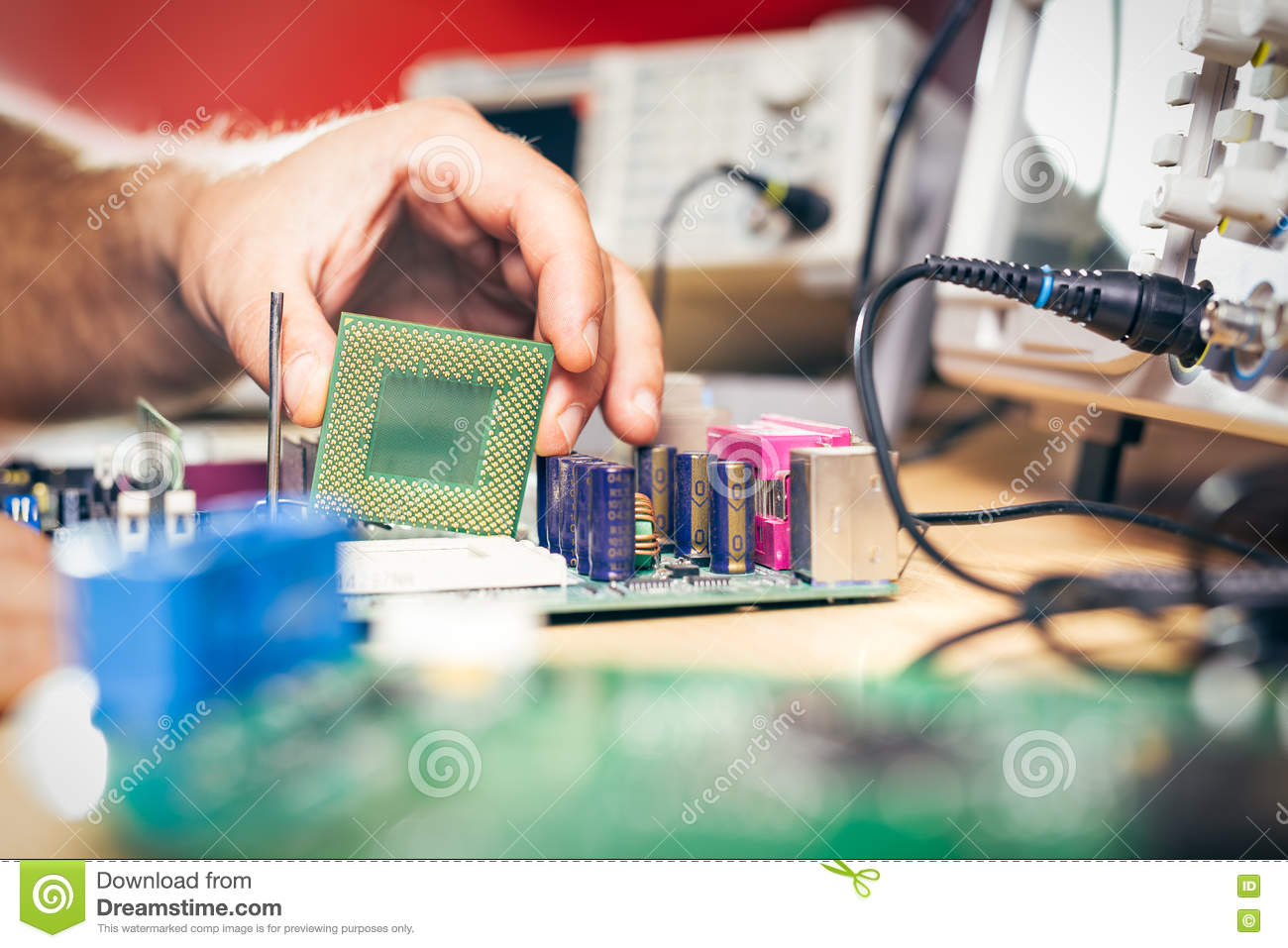 Remove Cpu From Main Circuit Board To Check Problem And Repair Stock How A