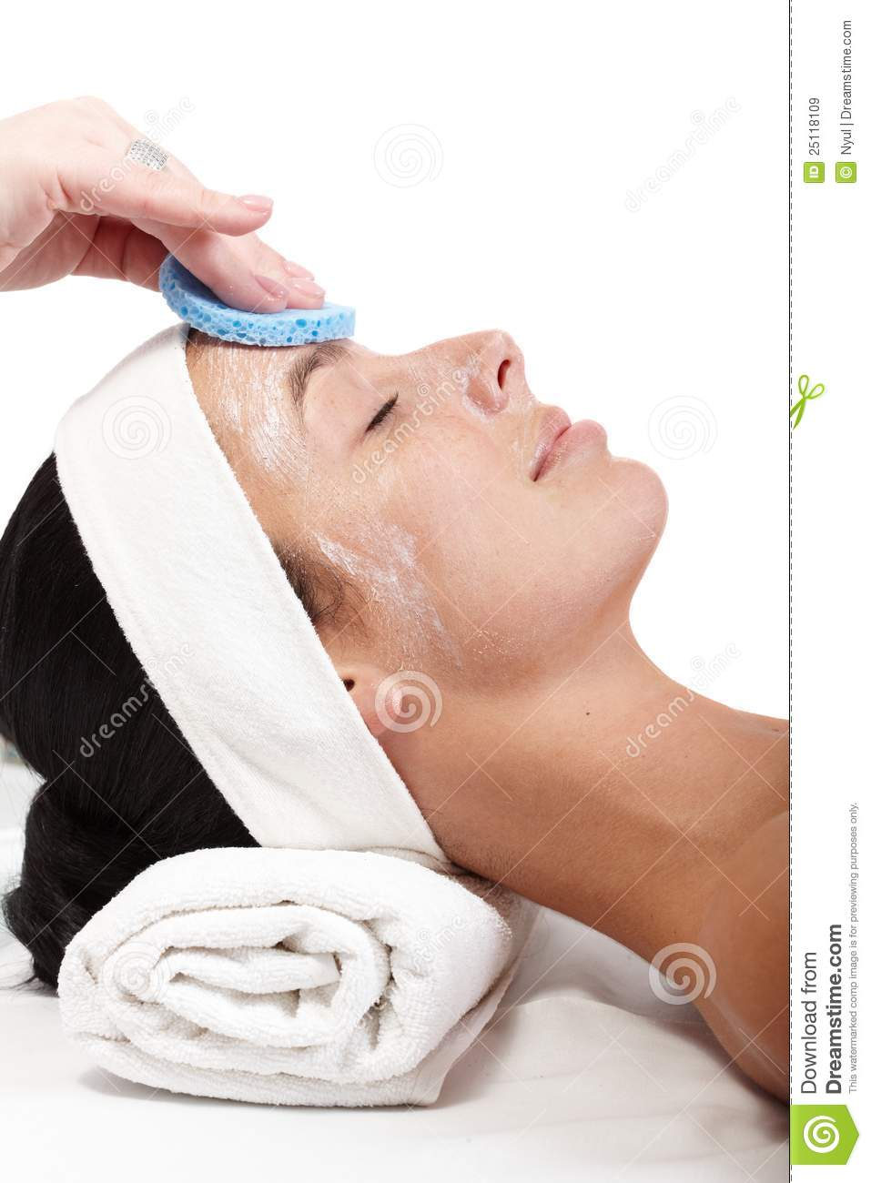 Removing facial cream