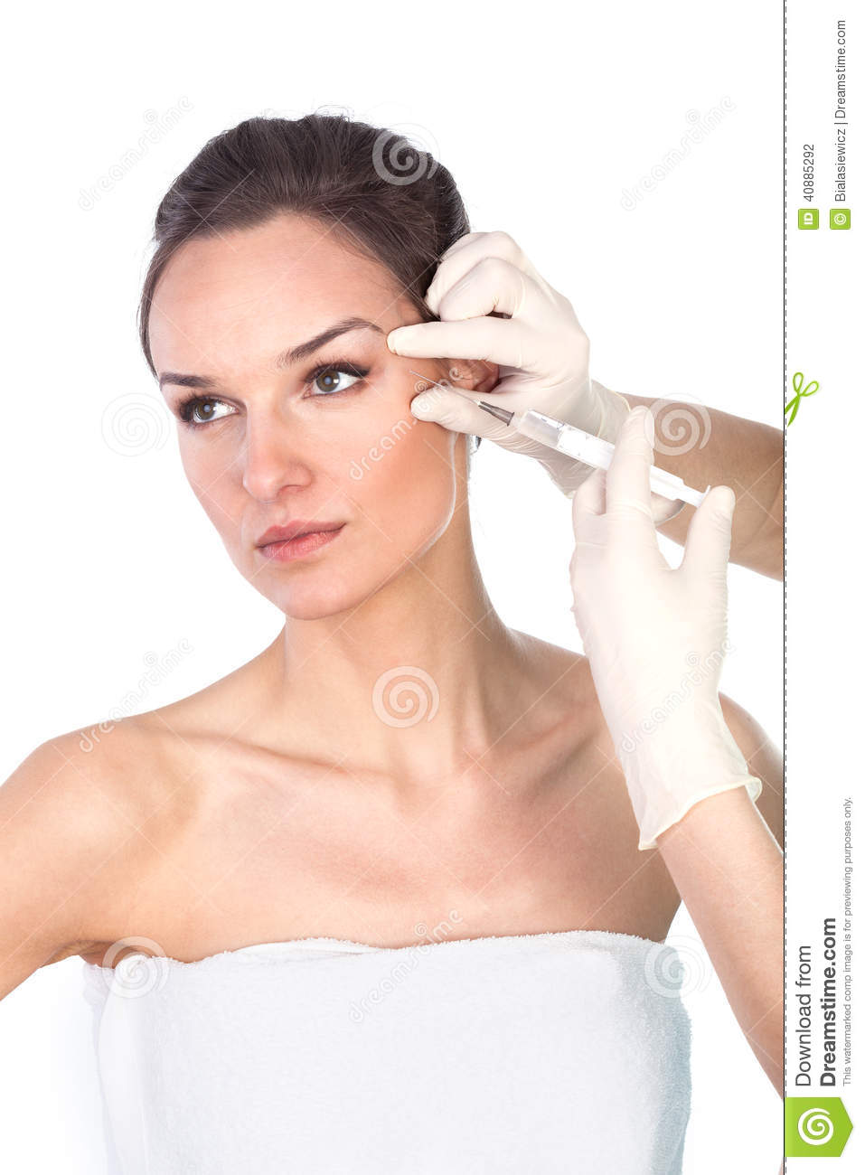 Removing wrinkles around the eyes