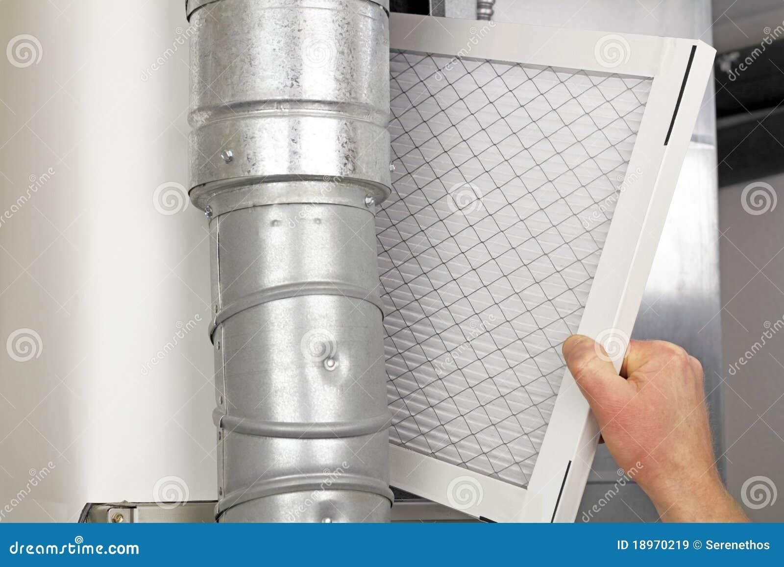 Remplacement à la maison de filtre à air