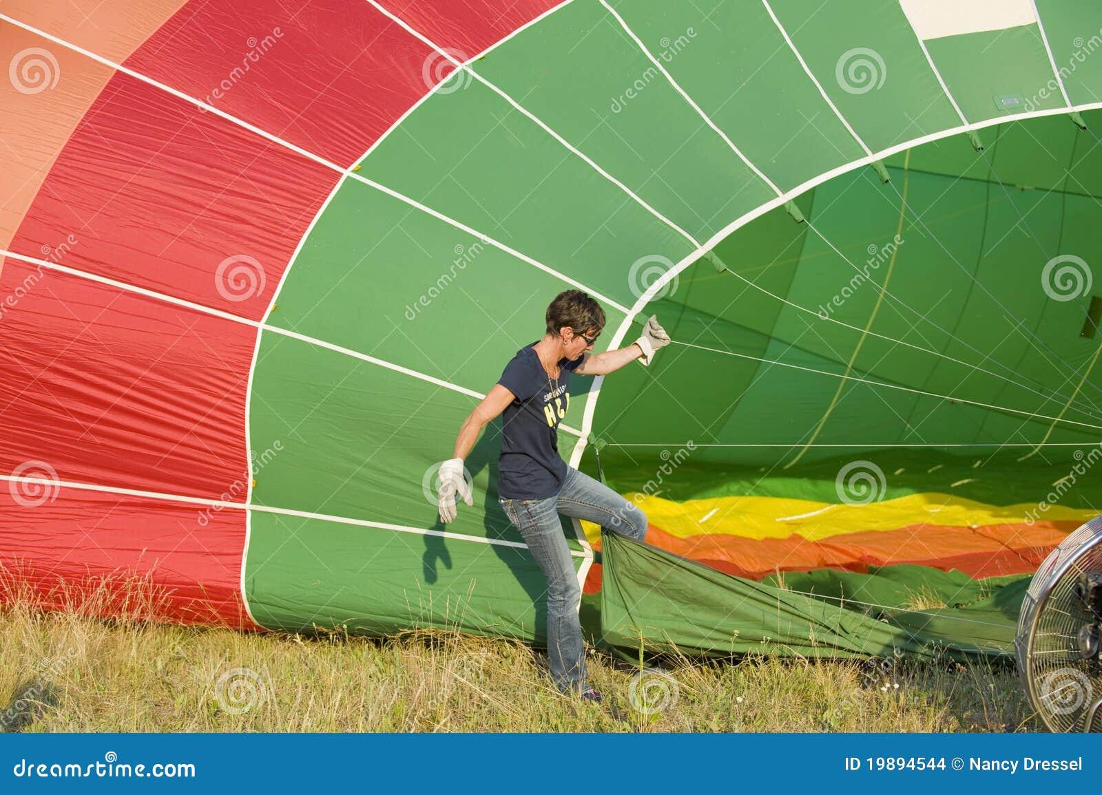 Remplir vers le haut du ballon à air chaud