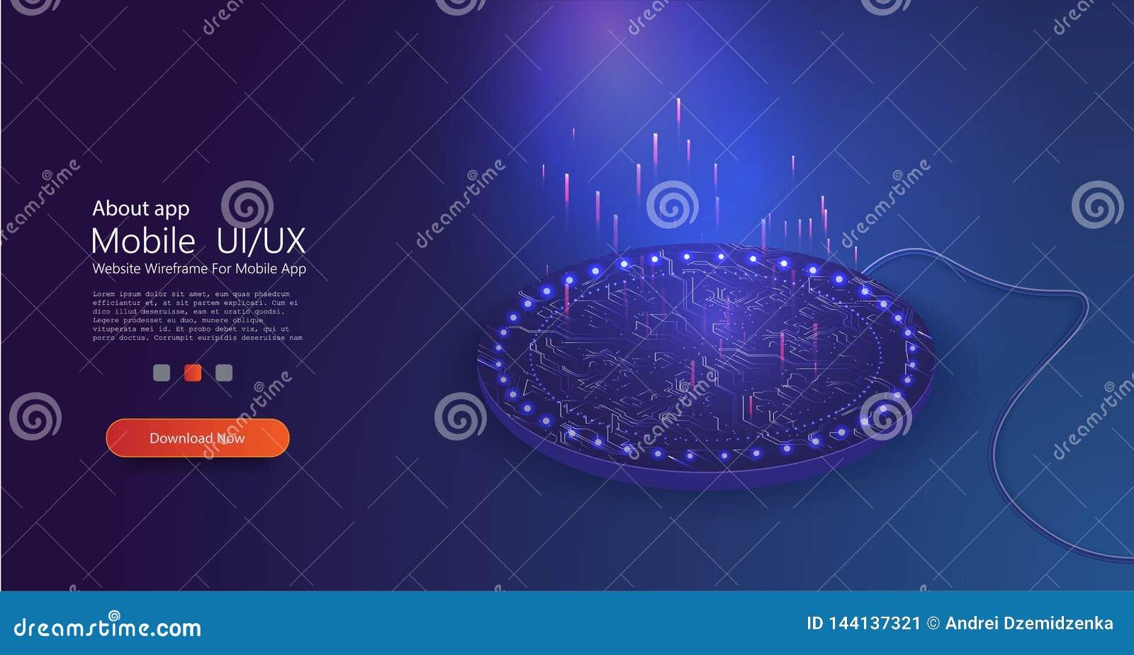 Remplissage sans fil dans le style 3d Concept de connexion de vecteur Conception moderne Technologie sans fil
