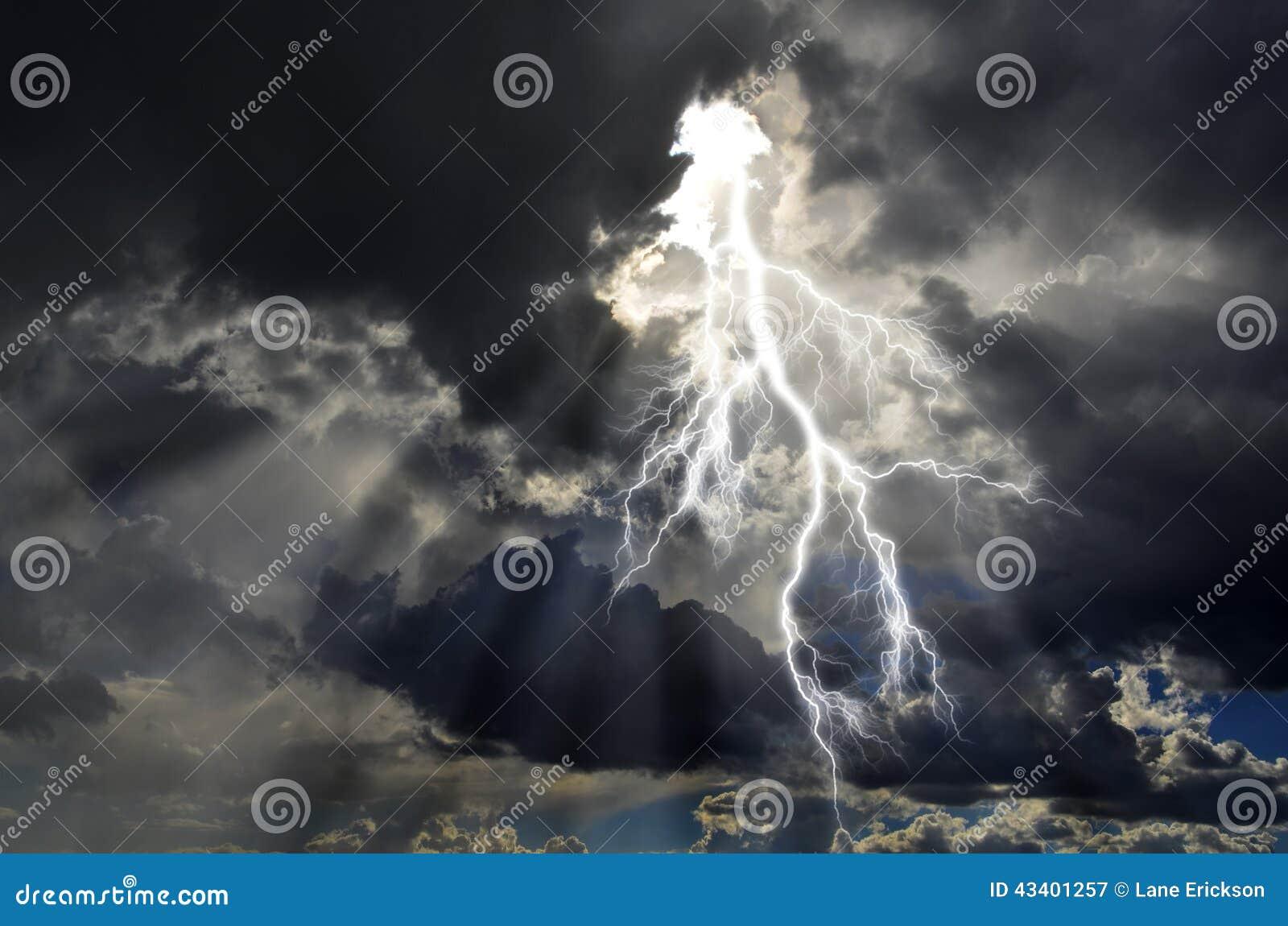 Ren energi och elektricitet som symboliserar makt