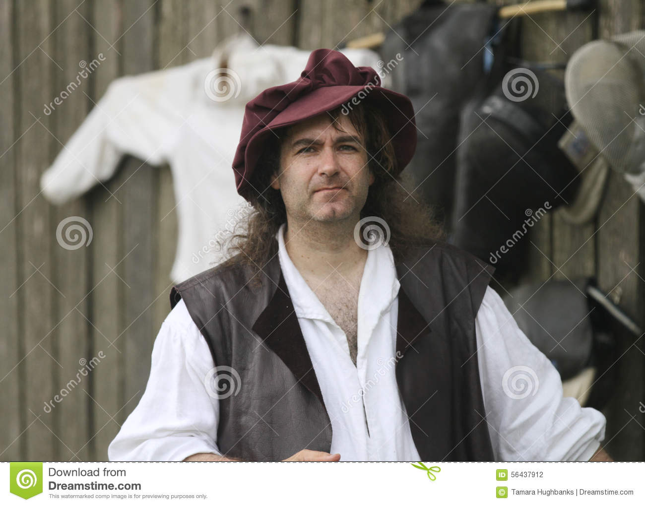 62535419c41a3 Renaissance Fair Man In Costume With Hat Editorial Photography ...