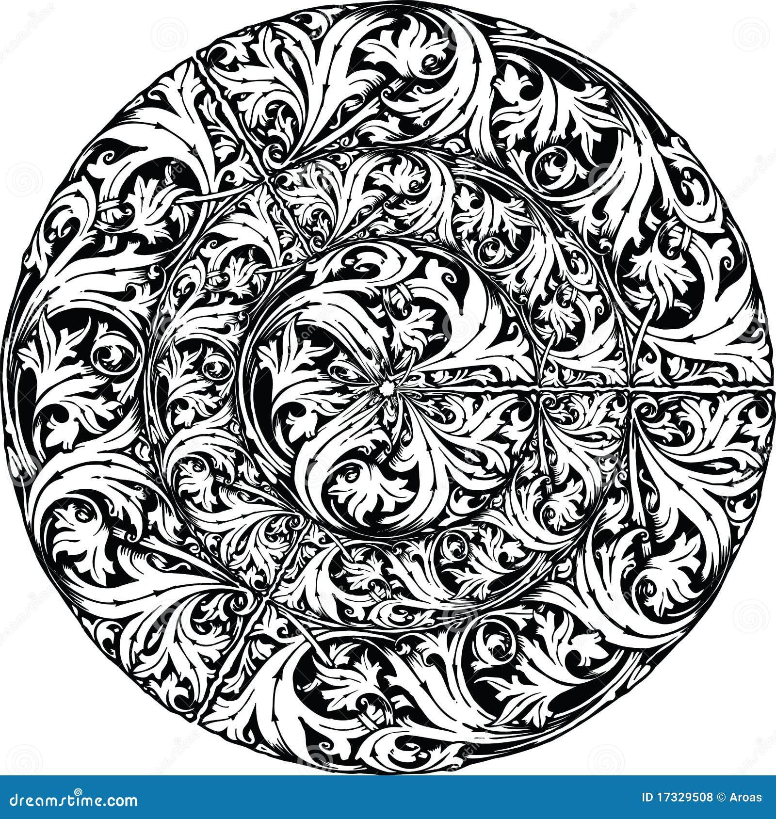 Renaissance Seamless Pattern Illustration Royalty Free