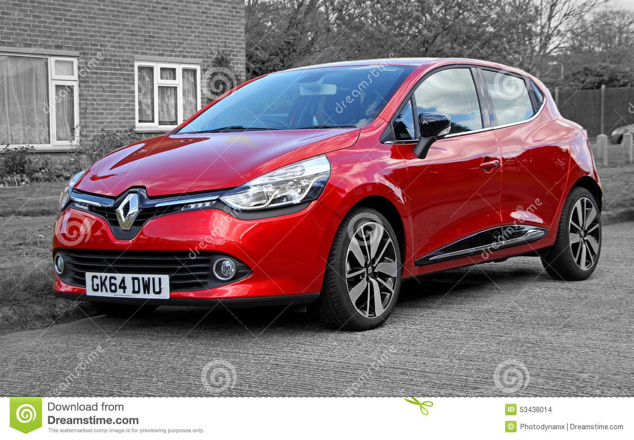 renault clio car editorial stock image image 53438014. Black Bedroom Furniture Sets. Home Design Ideas