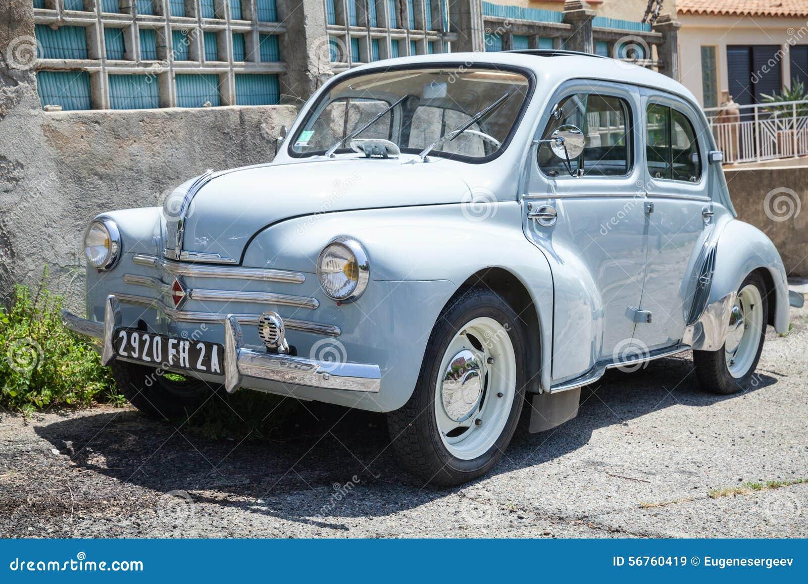 renault 4cv light blue old