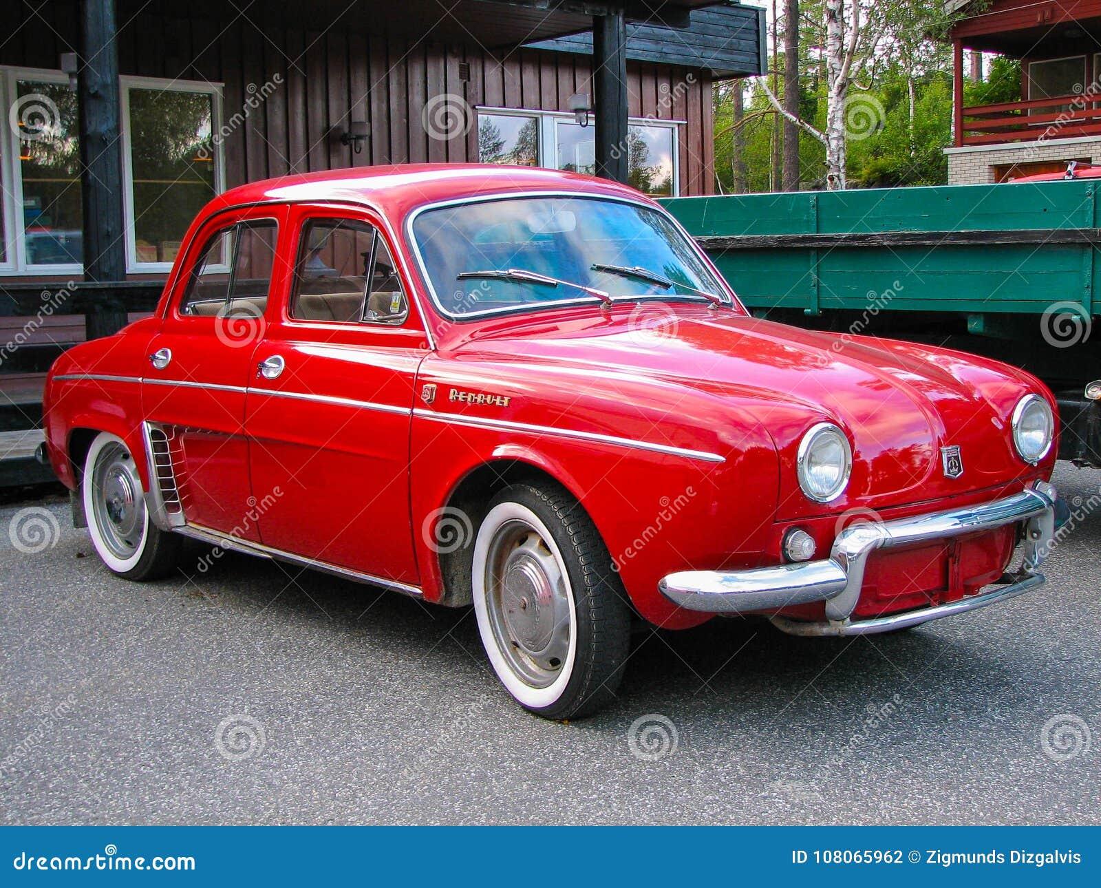 Renault Dauphine De Luxe Fotografia Editorial Imagem De Europa 108065962
