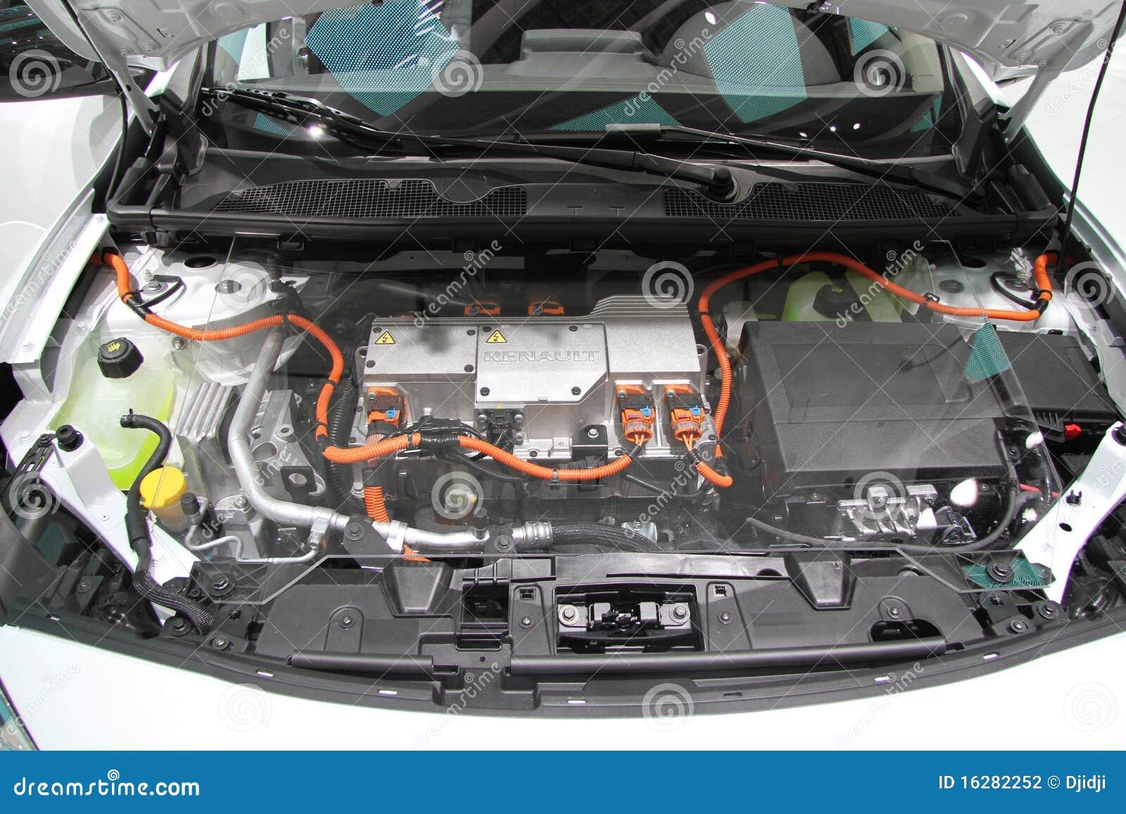 Renault Fluence Ze Motor Editorial Photography
